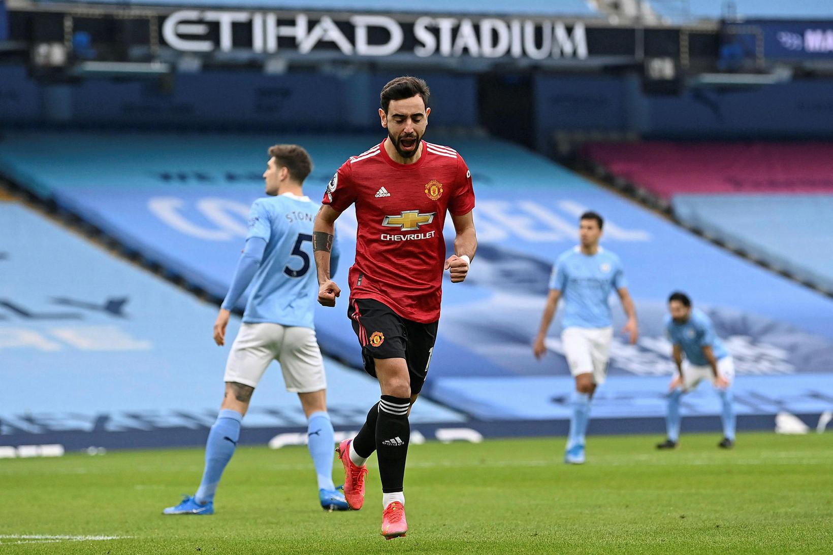 Bruno Fernandes kom Manchester United á bragðið.