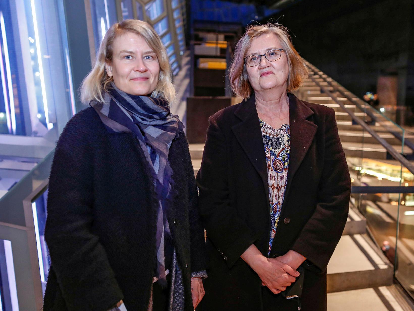Guðlaug Friðgeirsdóttir og Guðmunda Guðlaugsdóttir.
