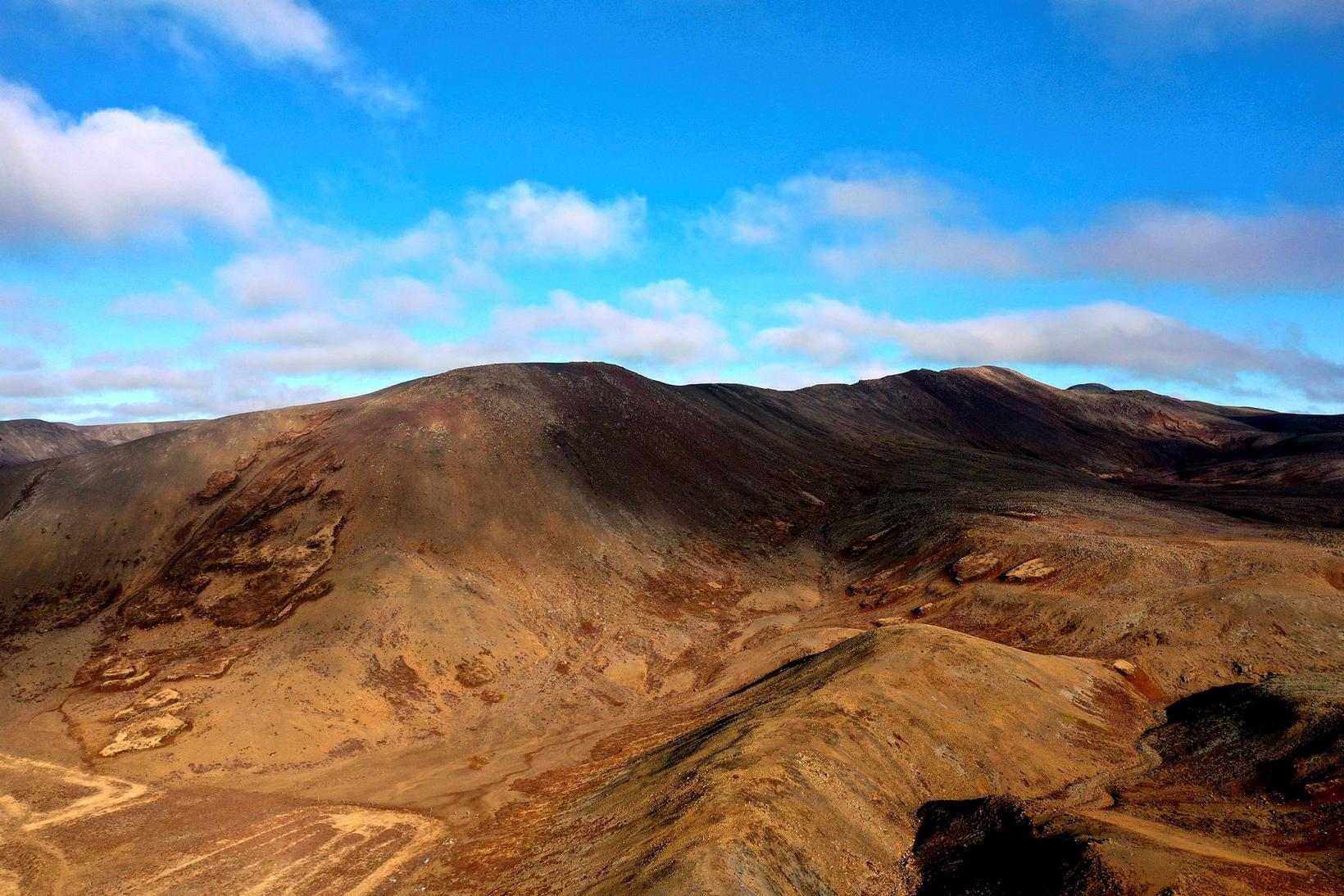 Hugsanlegur gosstaður er við eða á Fagradalsfjalli á Reykjanesskaga.