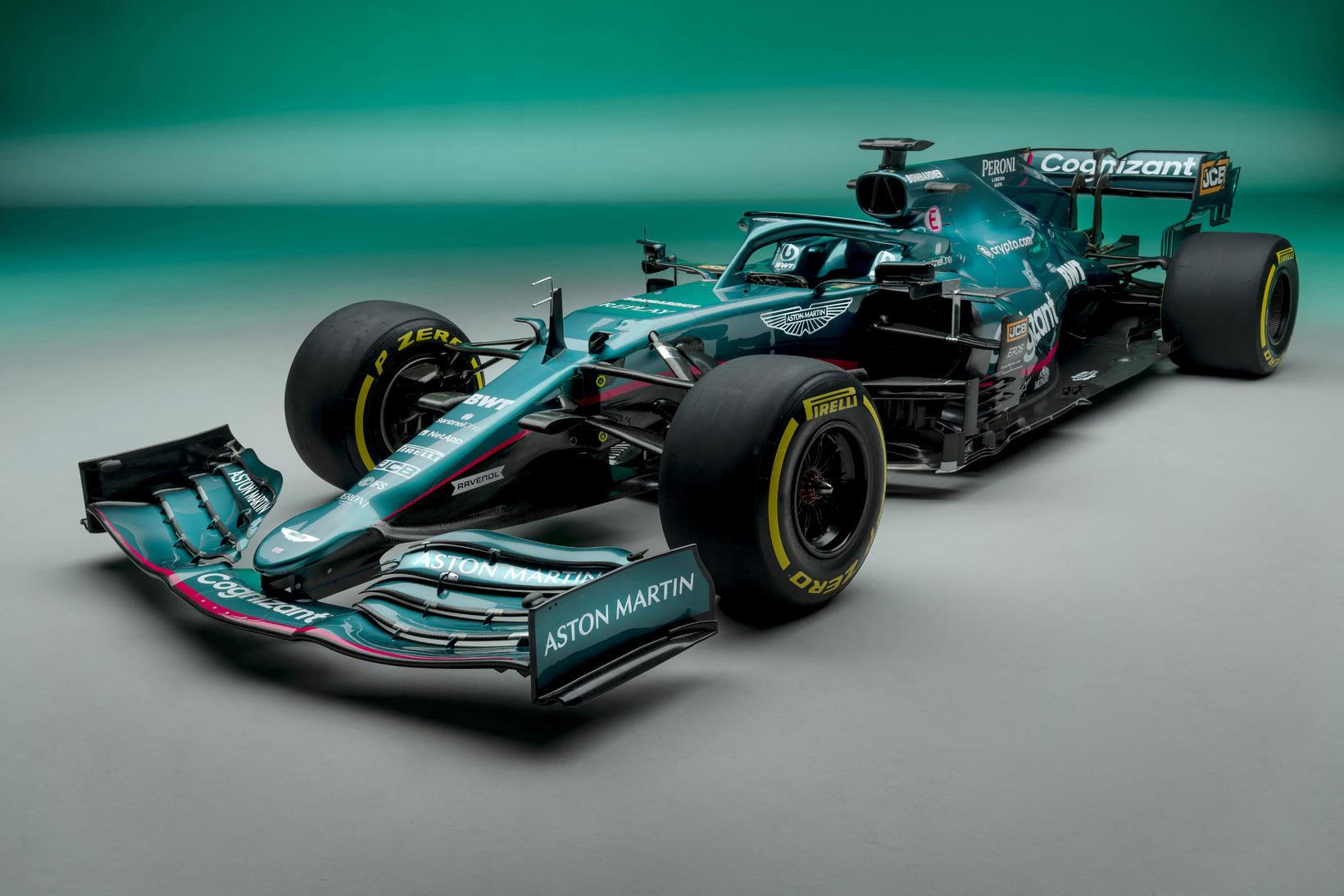 Keppnisbíll Aston Martin á 2021 keppnistíðinni.