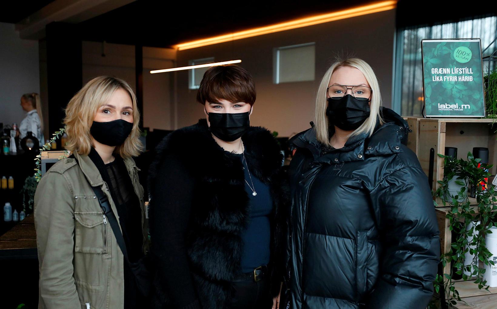 Rebekka Óskarsdóttir, Alexandra Lilja Björgvinsdóttir og Andrea Pálmadóttir.