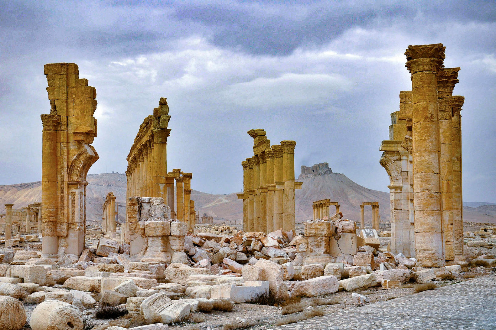 3. mars 2017, Fakhr-al-Din al-Ma'ani í Palmyra.