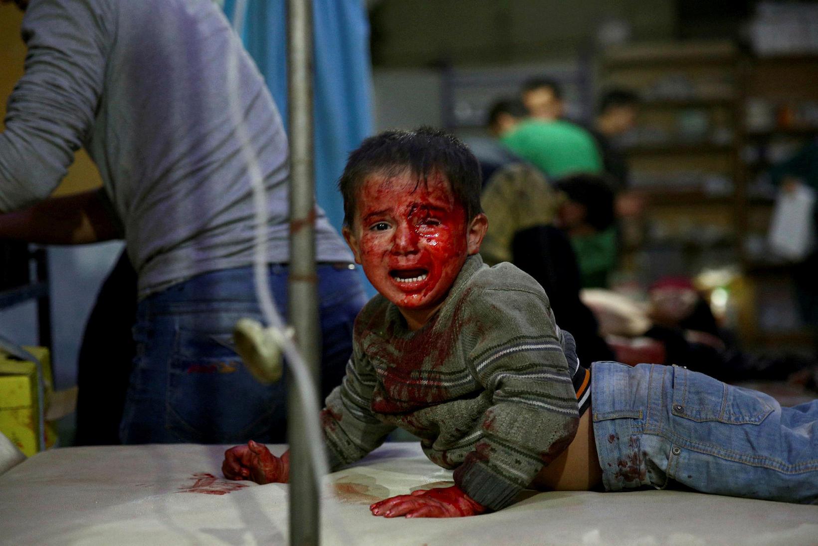 29. október 2015 í Douma, austur af Damaskus.