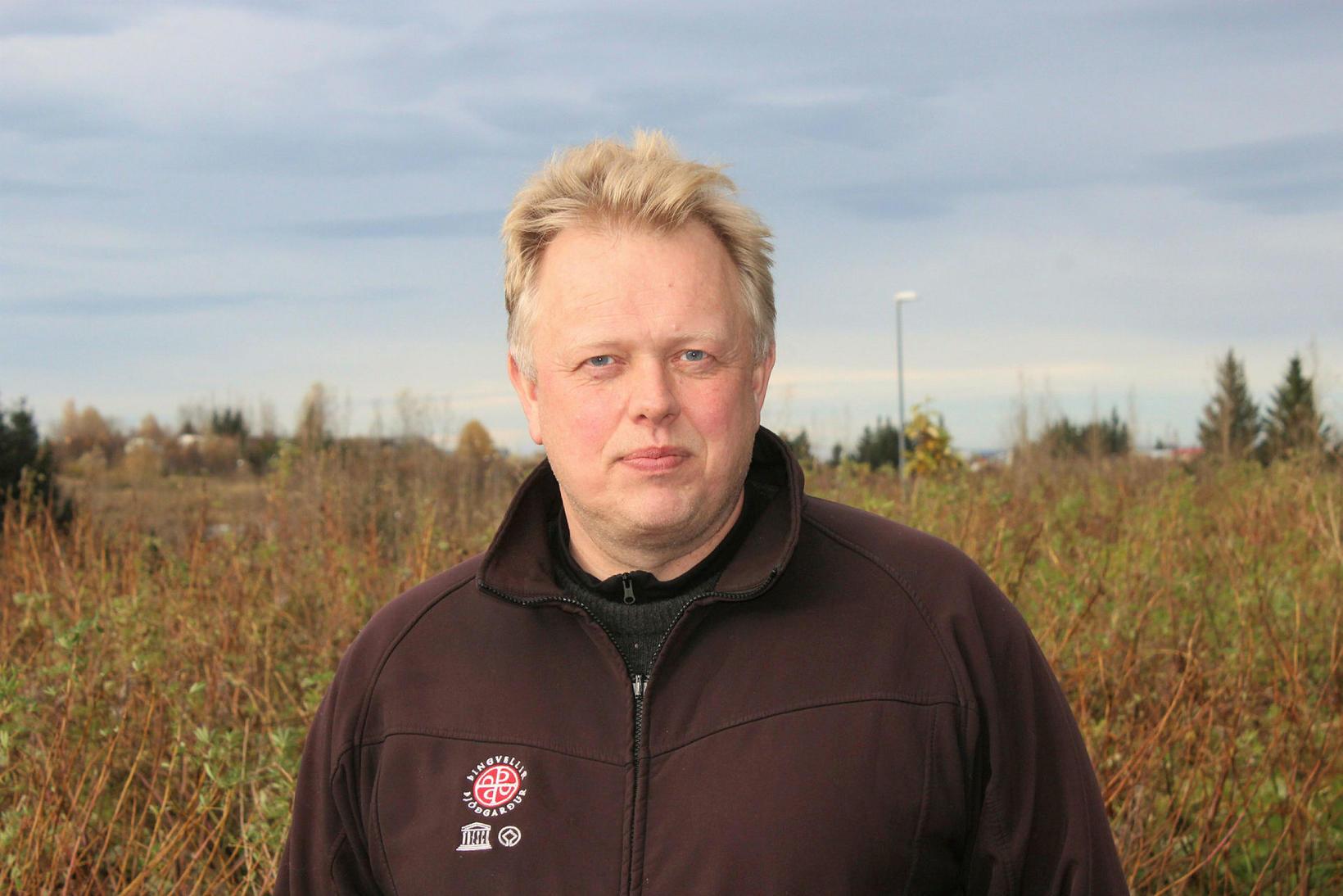 Einar Á. E. Sæmundssen, þjóðgarðsvörður á Þingvöllum.