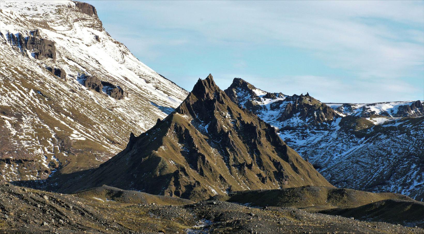 The mountain Kurl, near the glacier.