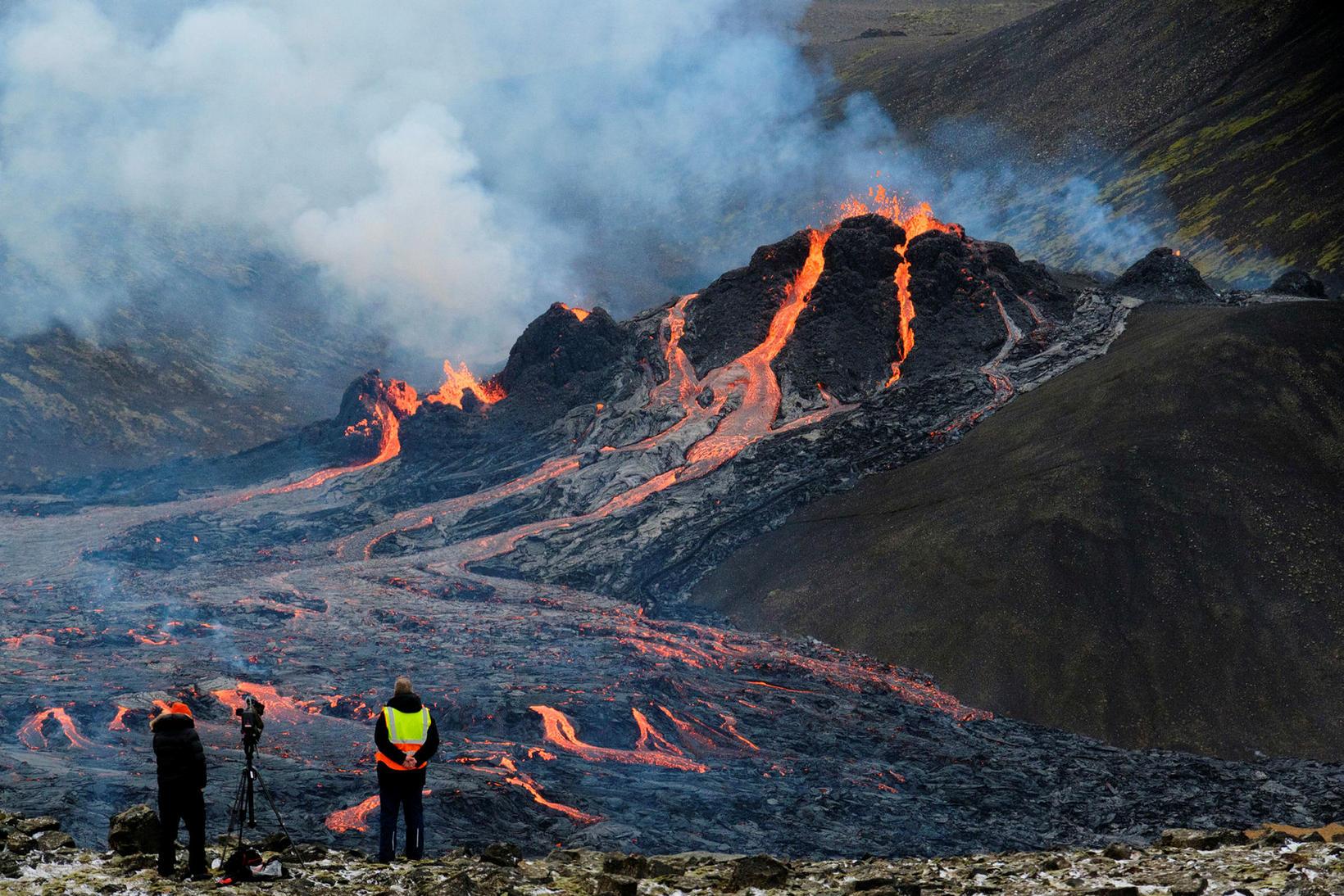 Eldgos í Geldingadal á Reykjanesi.