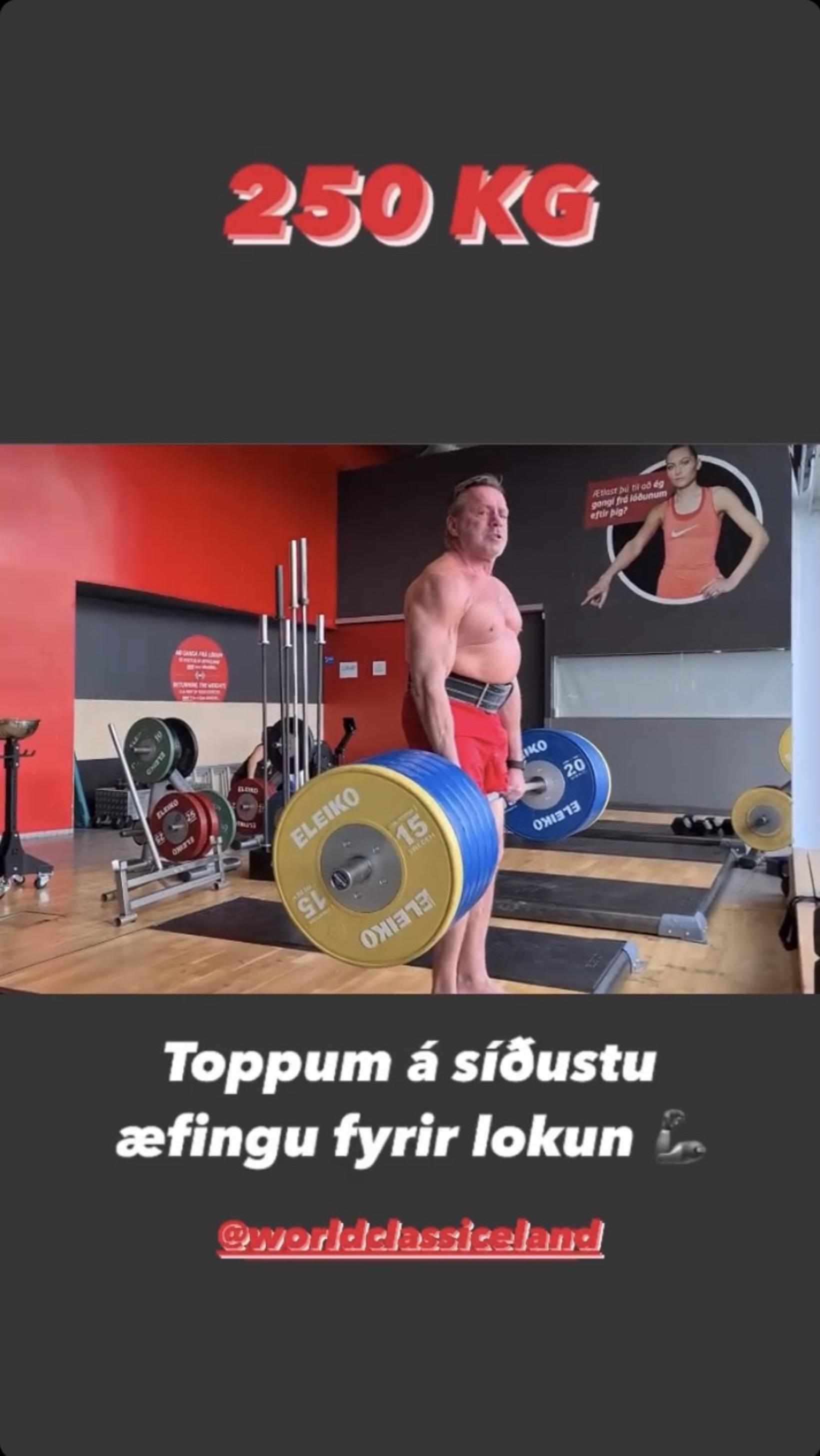 Björn Leifsson bætti sig um 25 kíló í réttstöðulyftu á …