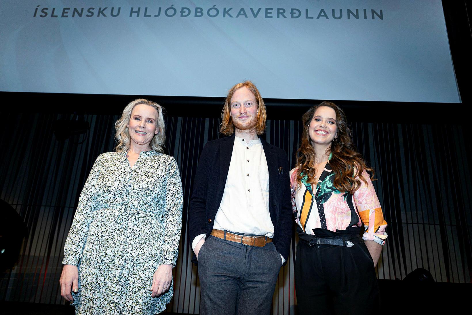 Elva Ósk Ólafsdóttir, Sverrir Norland og Guðrún Sóley Gestsdóttir.