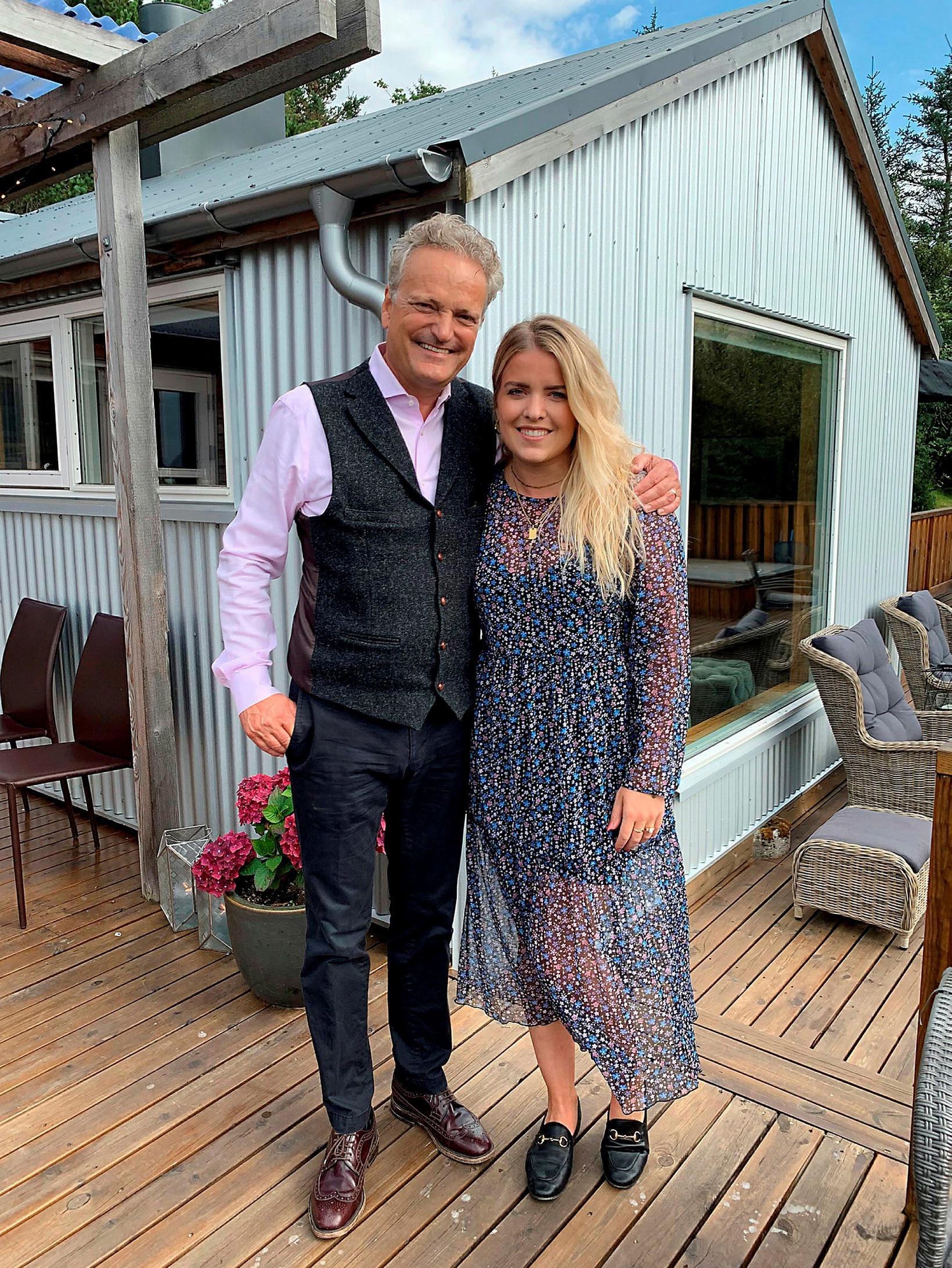 Feðginin Sigurbjörn Magnússon og Áslaug Arna Sigurbjörnsdóttir.