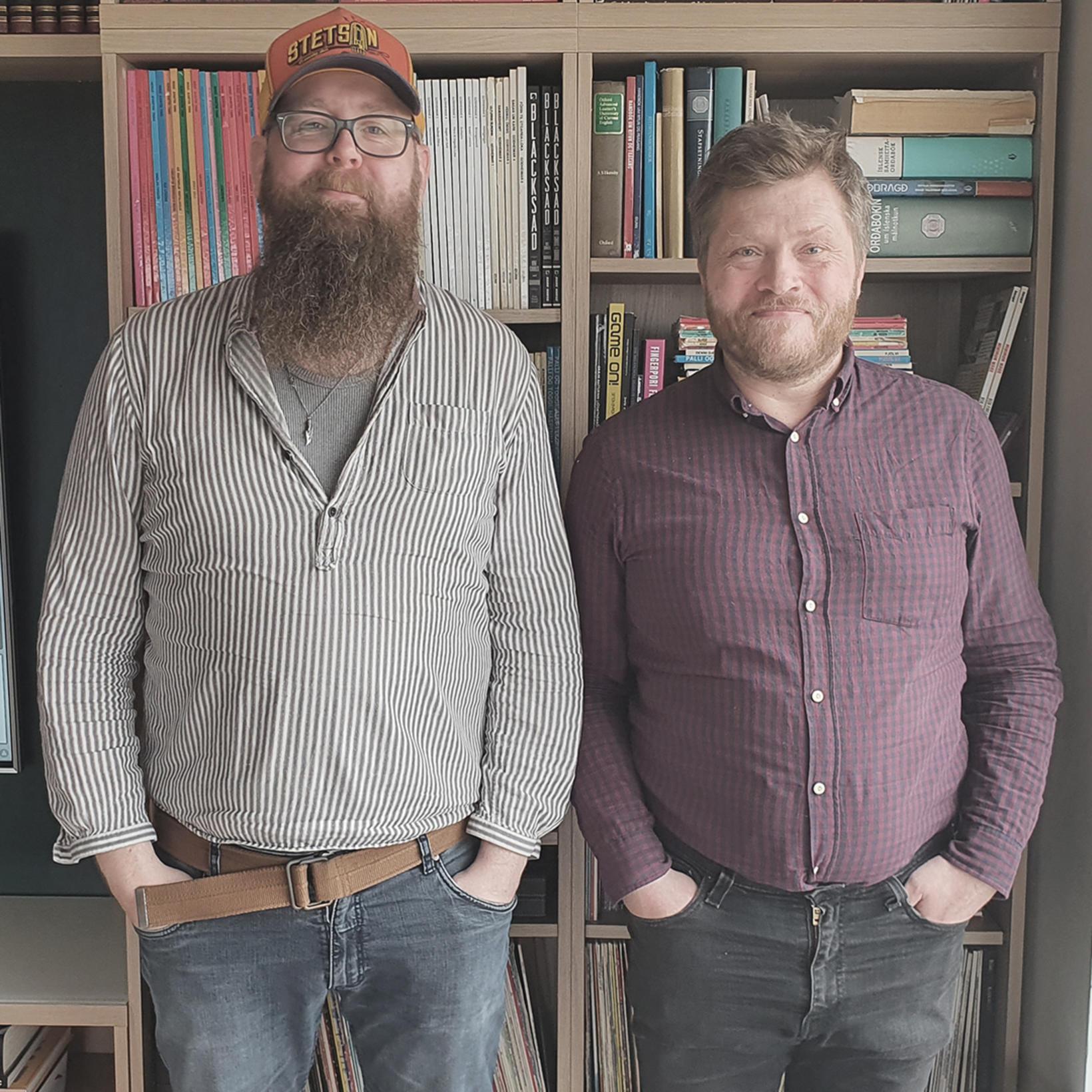 Snæbjörn Ragnarsson og Víkingur Kristjánsson.