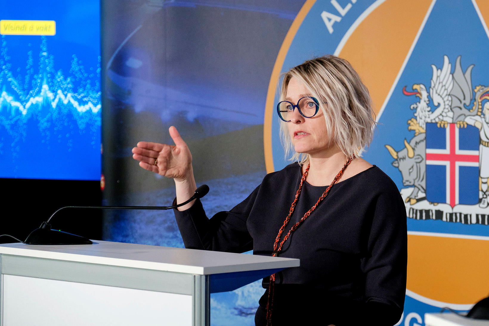 Kristín Jónsdóttir, natural hazards specialist at the Icelandic Met Office.
