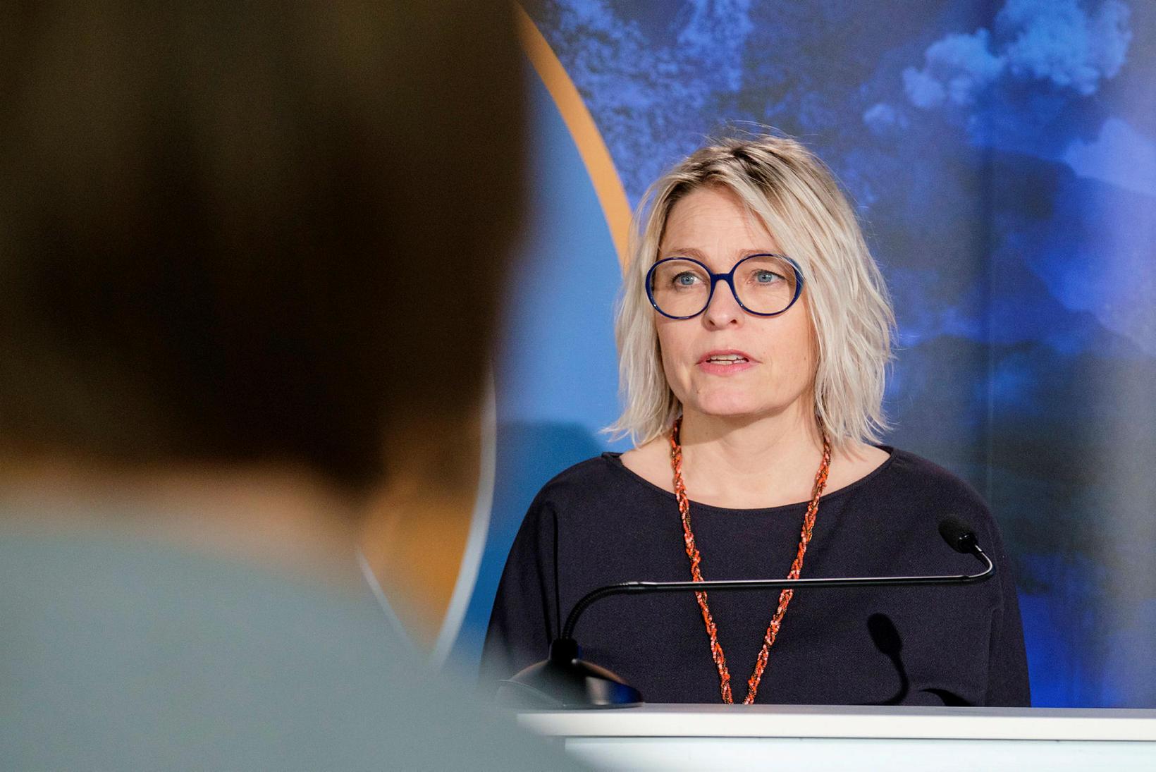 Kristín Jónsdóttir, fagstjóri náttúruvár hjá Veðurstofunni.