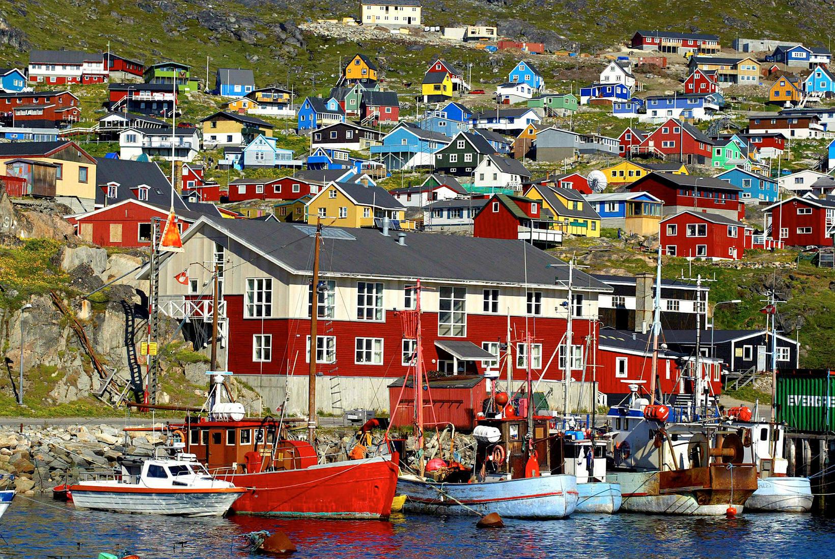 Frá Qaqortoq á Suður-Grænlandi.