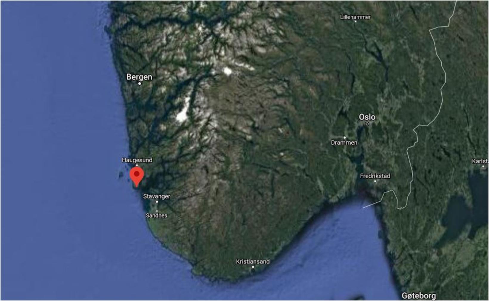 Karmøy er eyja úti fyrir bænum Haugesund í Rogaland. Af …