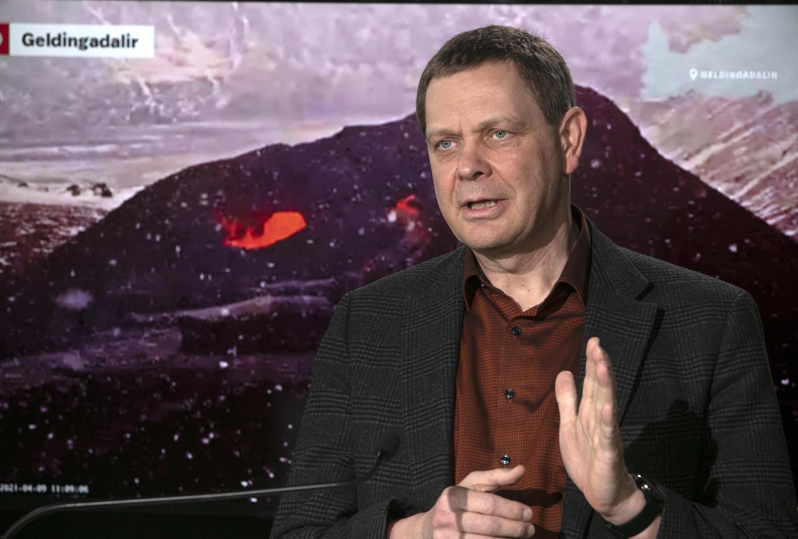 Magnús Tumi Guðmundsson, geophysicist.