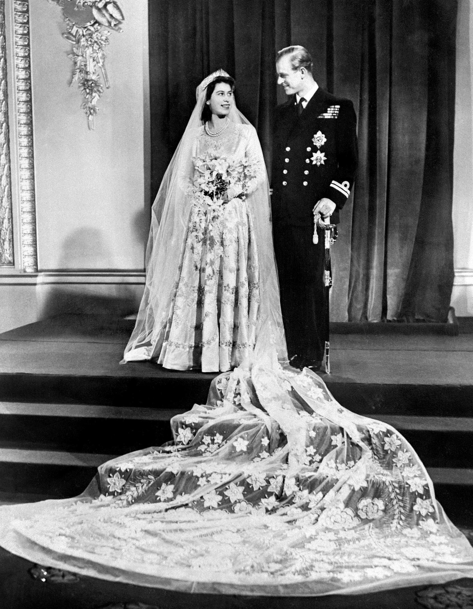 Elísabet og Filippus gengu í hjónaband 20. nóvember 1947.