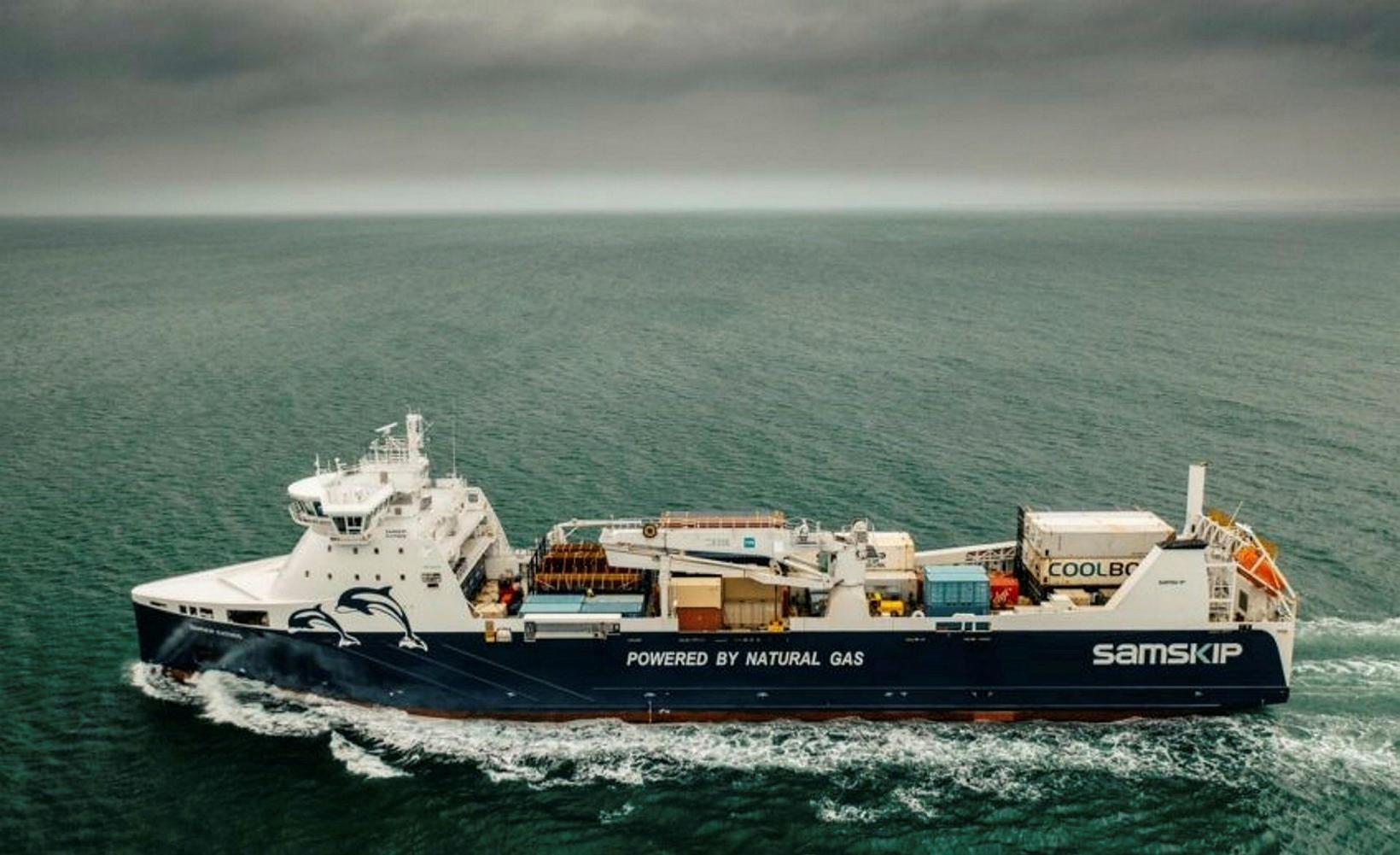 LNG skip Samskipa Kvitnos gengur fyrir fljótandi jarðgasi, er starfrækt …