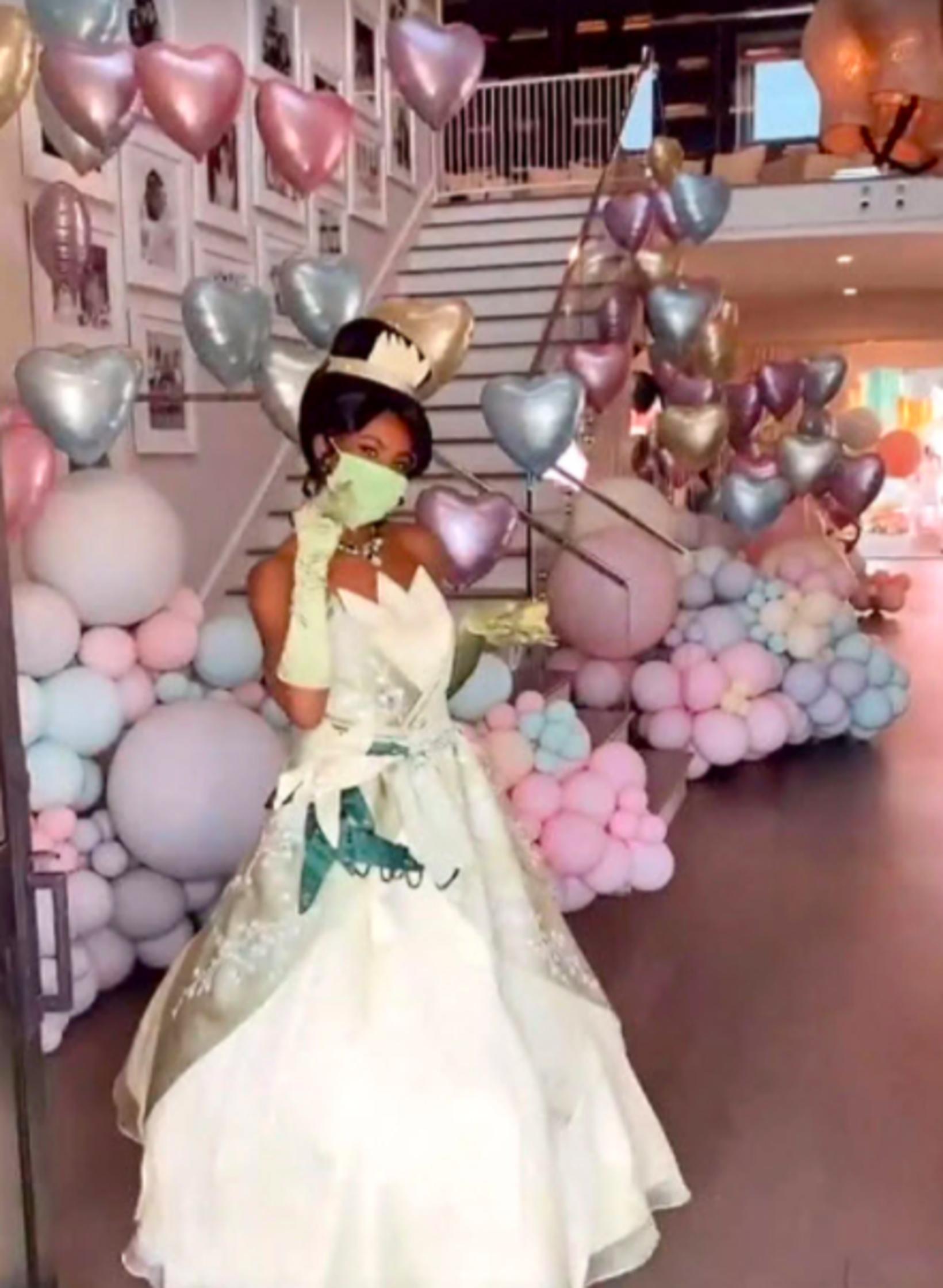 Disney prinsessur voru á hverju strái.