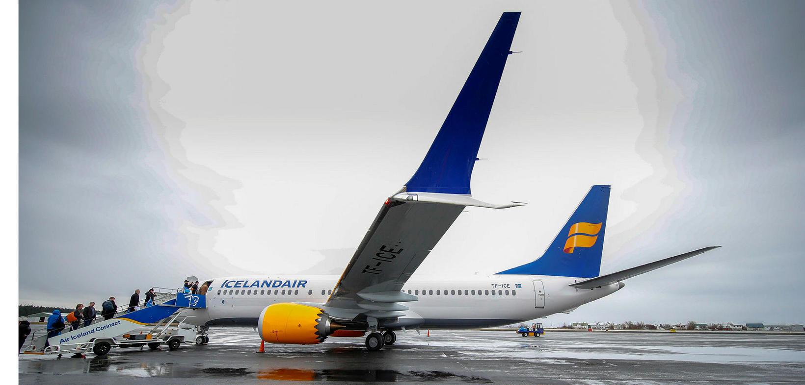 Boeing 737 MAX-þota Icelandair.
