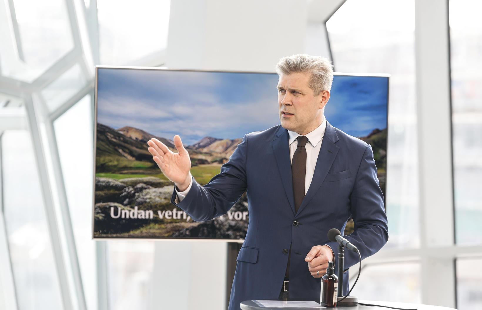 Bjarni Benediktsson fjármálaráðherra á fundinum.