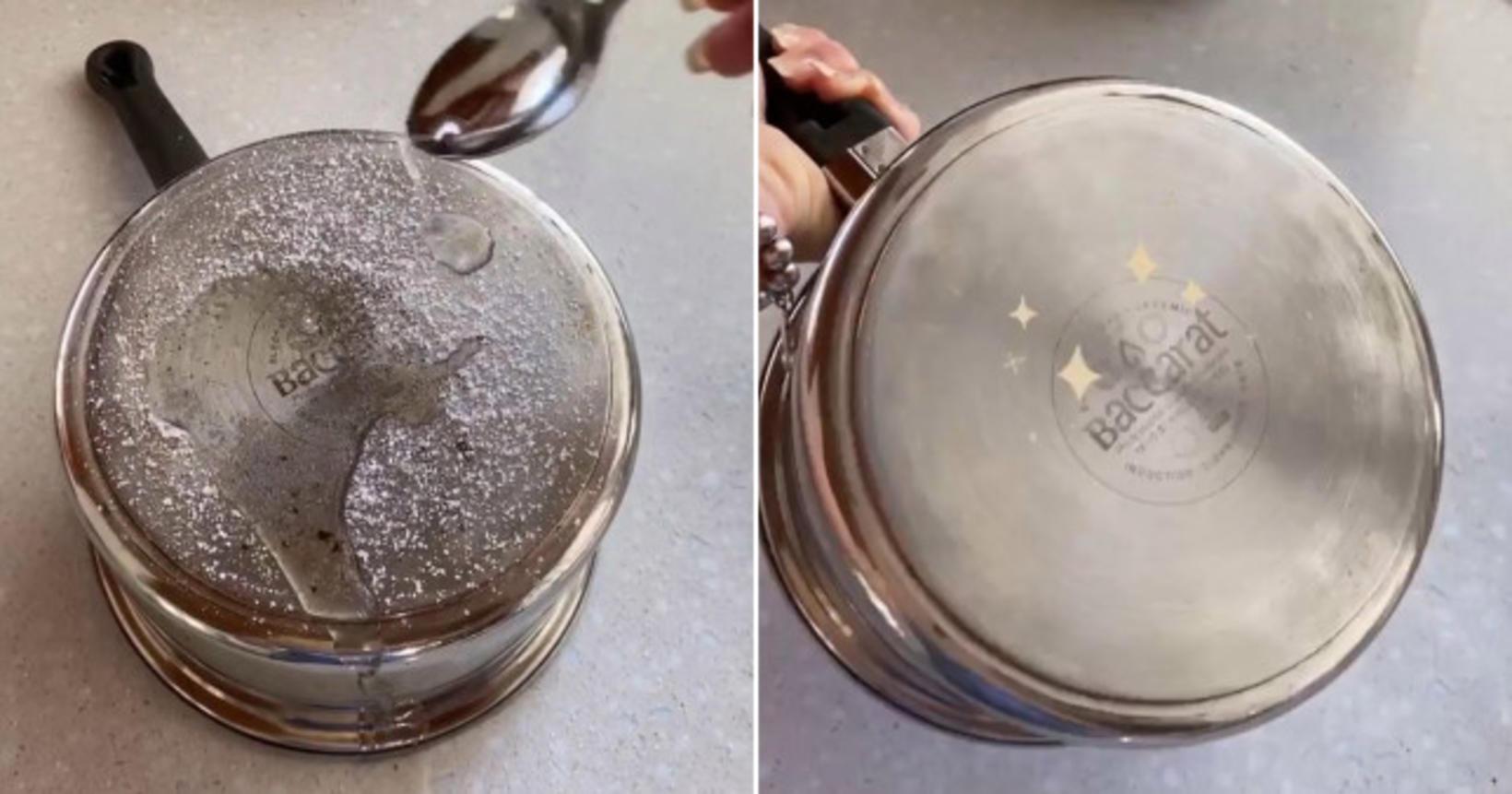 Salt og hvítt edik er blandan sem þú þarft til …