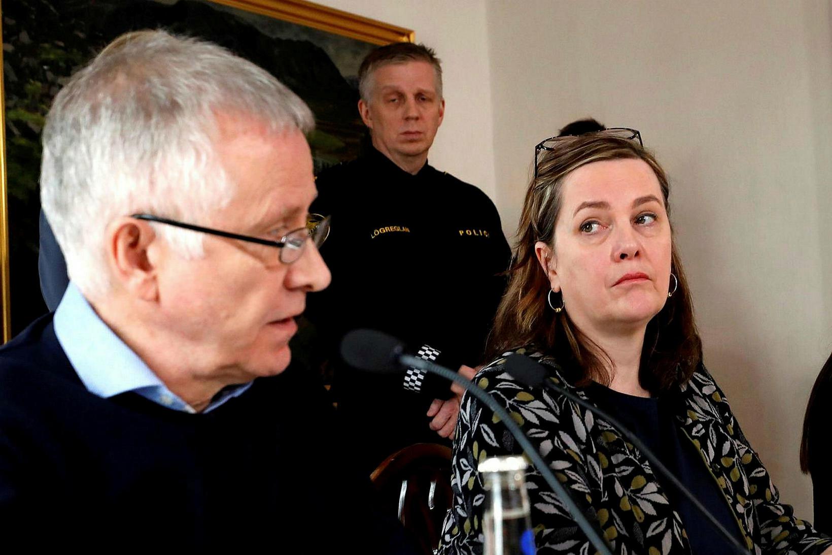 Svandís Svavarsdóttir heilbrigðisráðherra og Þórólfur Guðnason sóttvarnarlæknir.