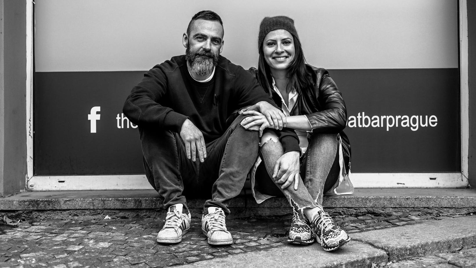 Almar Örn Hilmarsson og Anita Gyarmat kærasta hans.