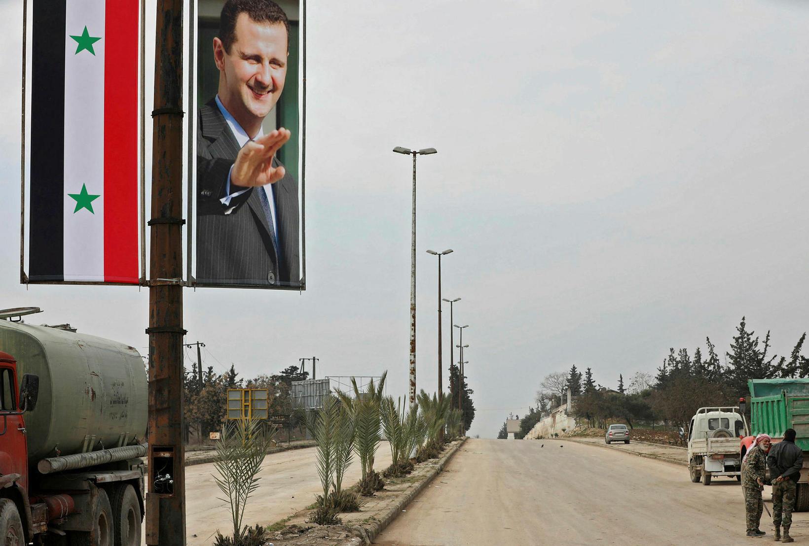 Bashar al-Assad hefur náð völdum í nánast öllu Sýrlandi.
