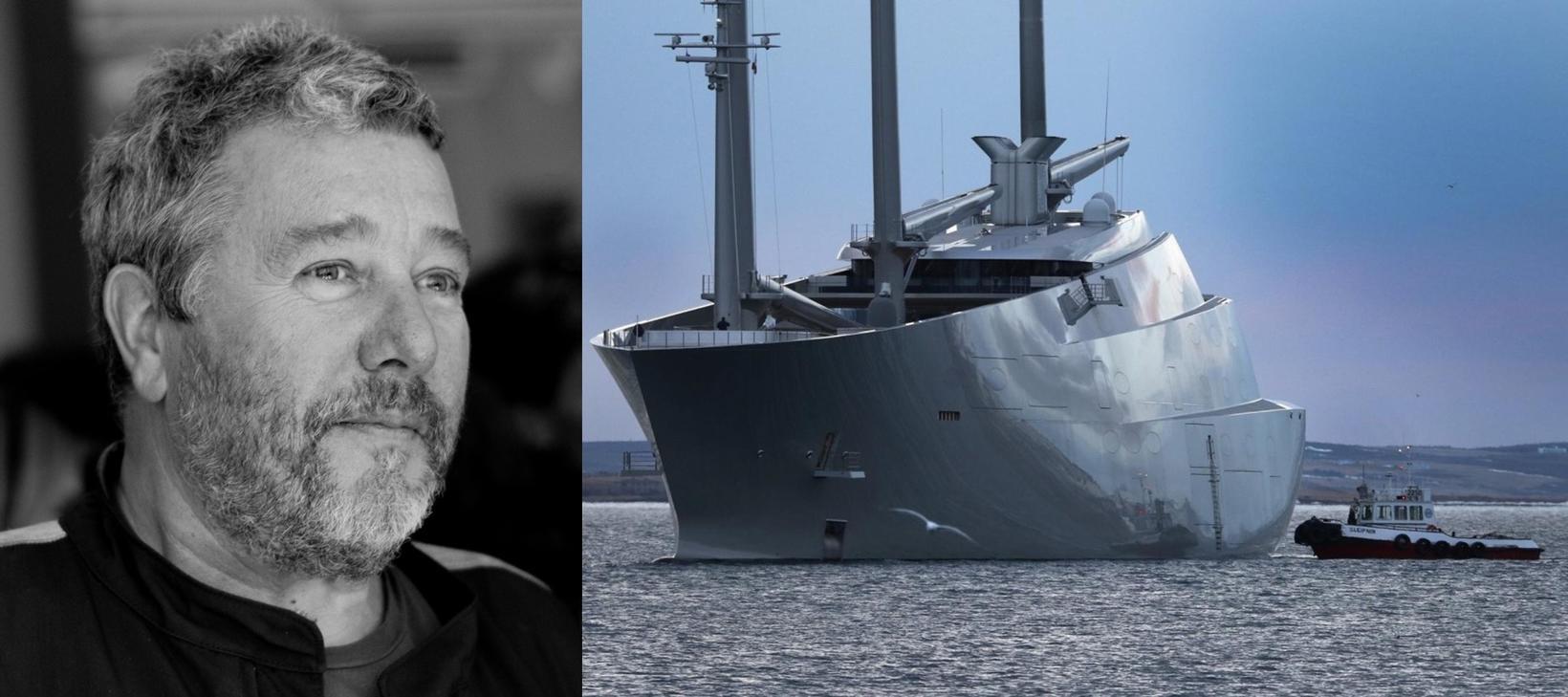 Philippe Starck, hönnuður glæsisnekkjunnar A, segist óhamingjusamur. Sköpunarkrafturinn er þó …