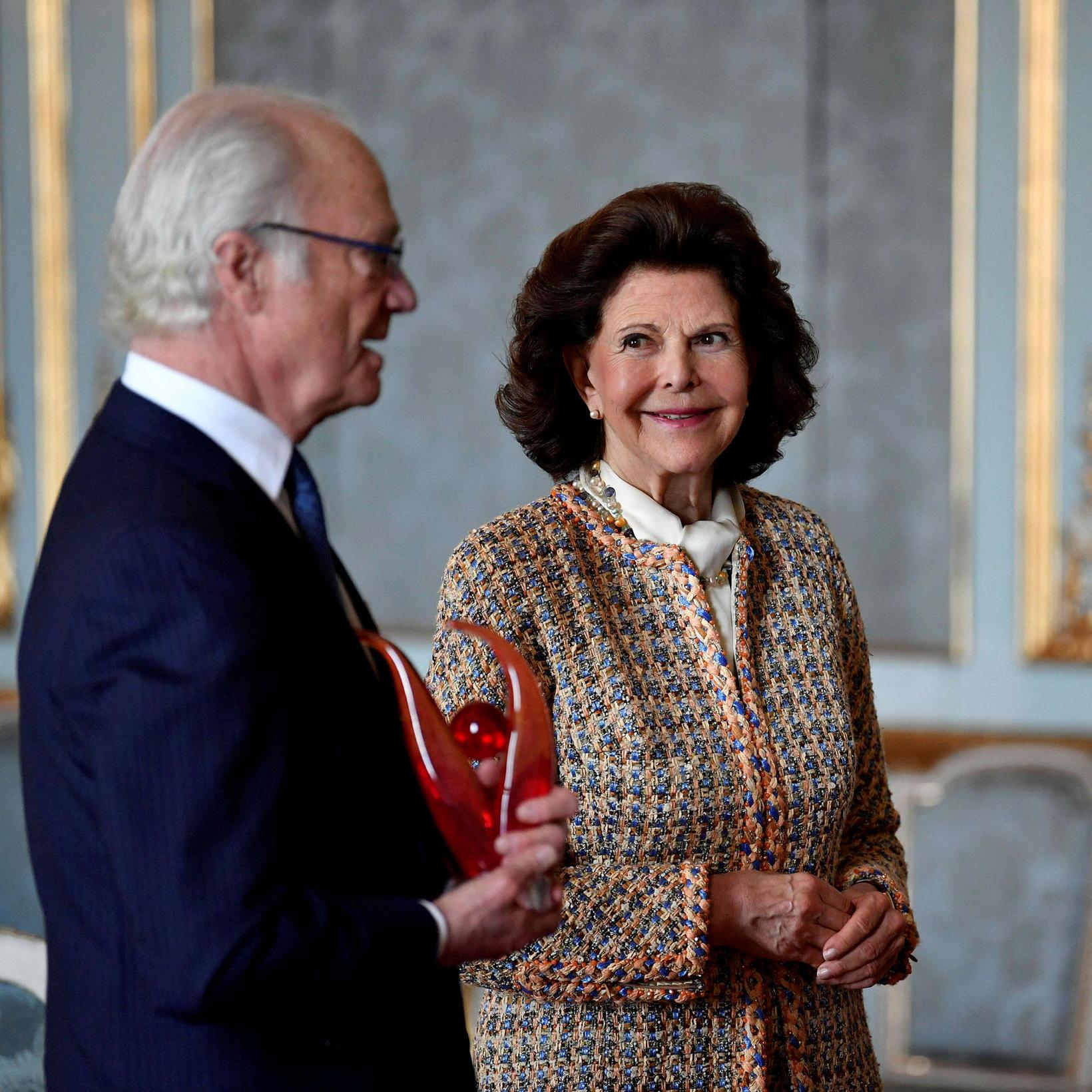 Karl Gústaf Svíakóngur og Silvía drottning.