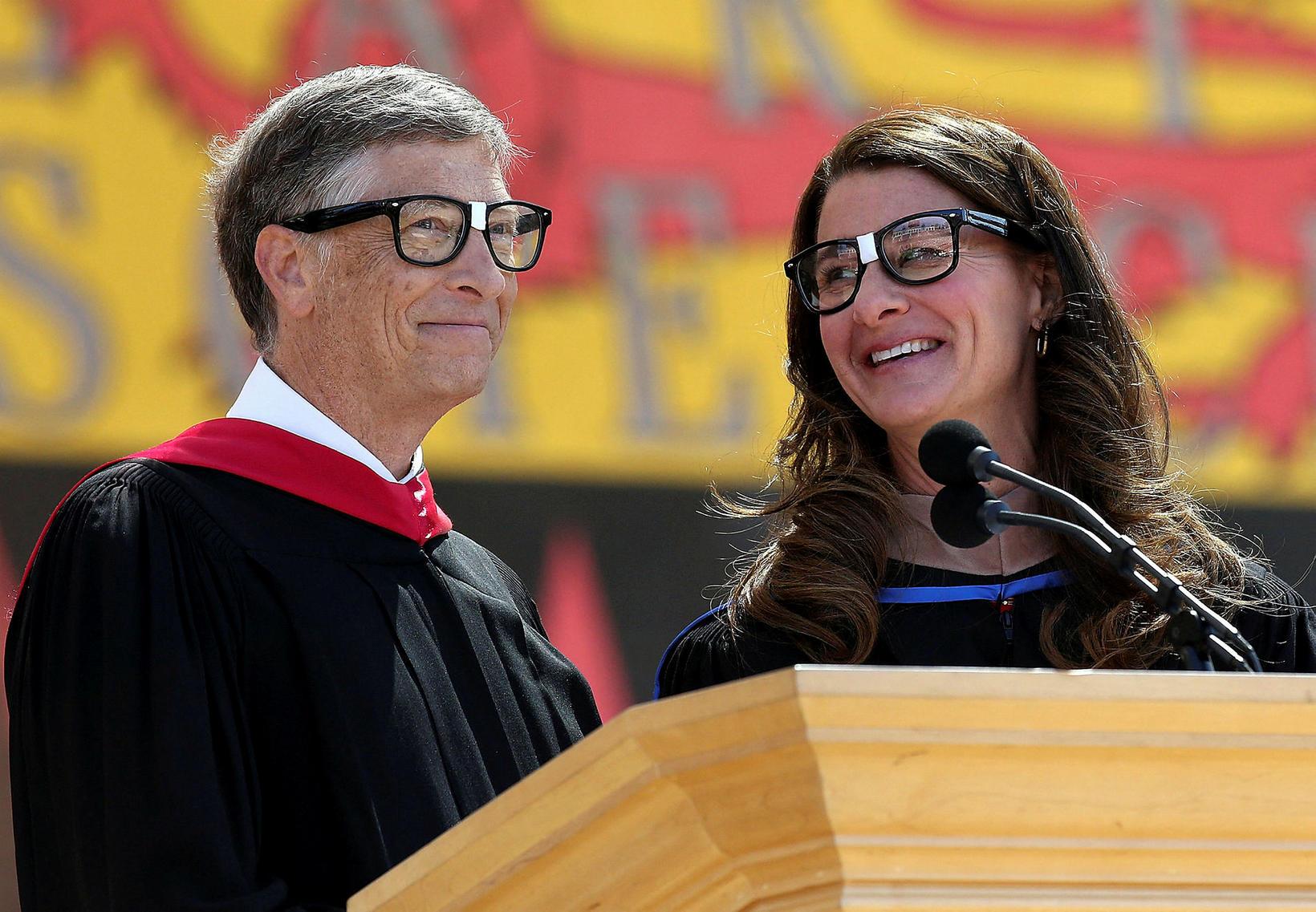 Bill Gates, stofnandi Microsoft, og Melinda Gates, árið 2014.