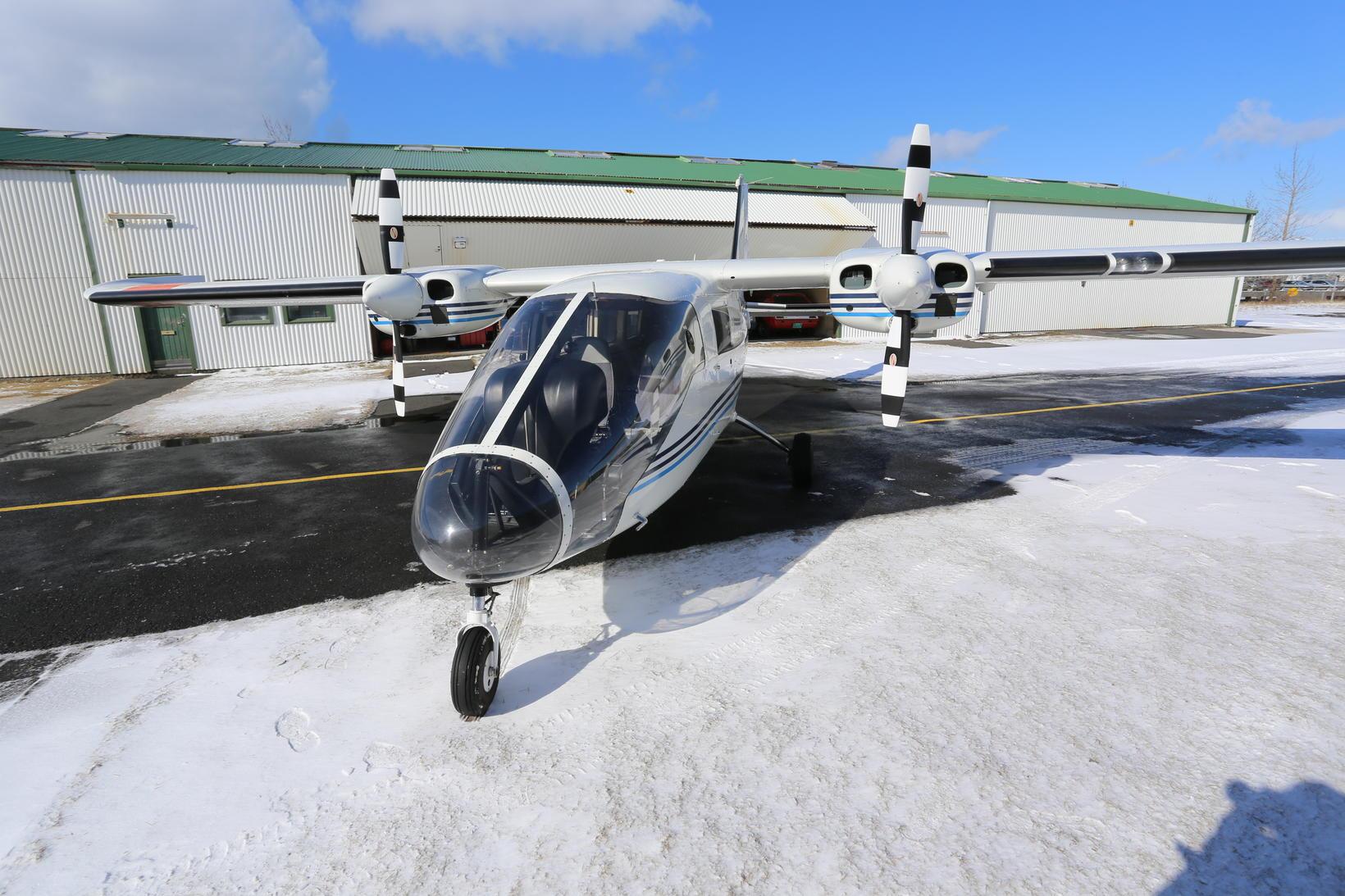 Flugvélin TF-BMW er í eigu Garðaflugs