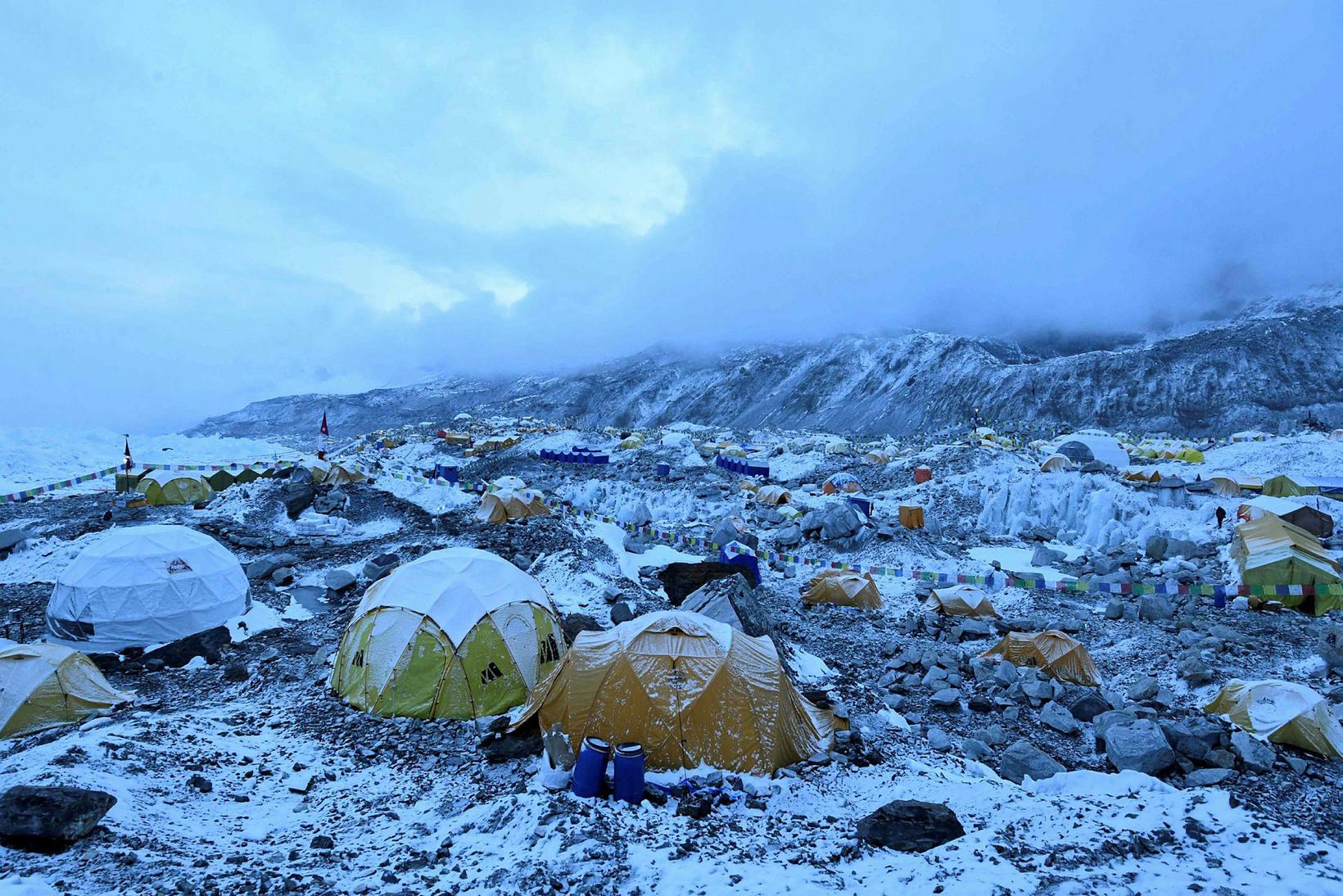 Grunnbúðir Everest 1. maí 2021.