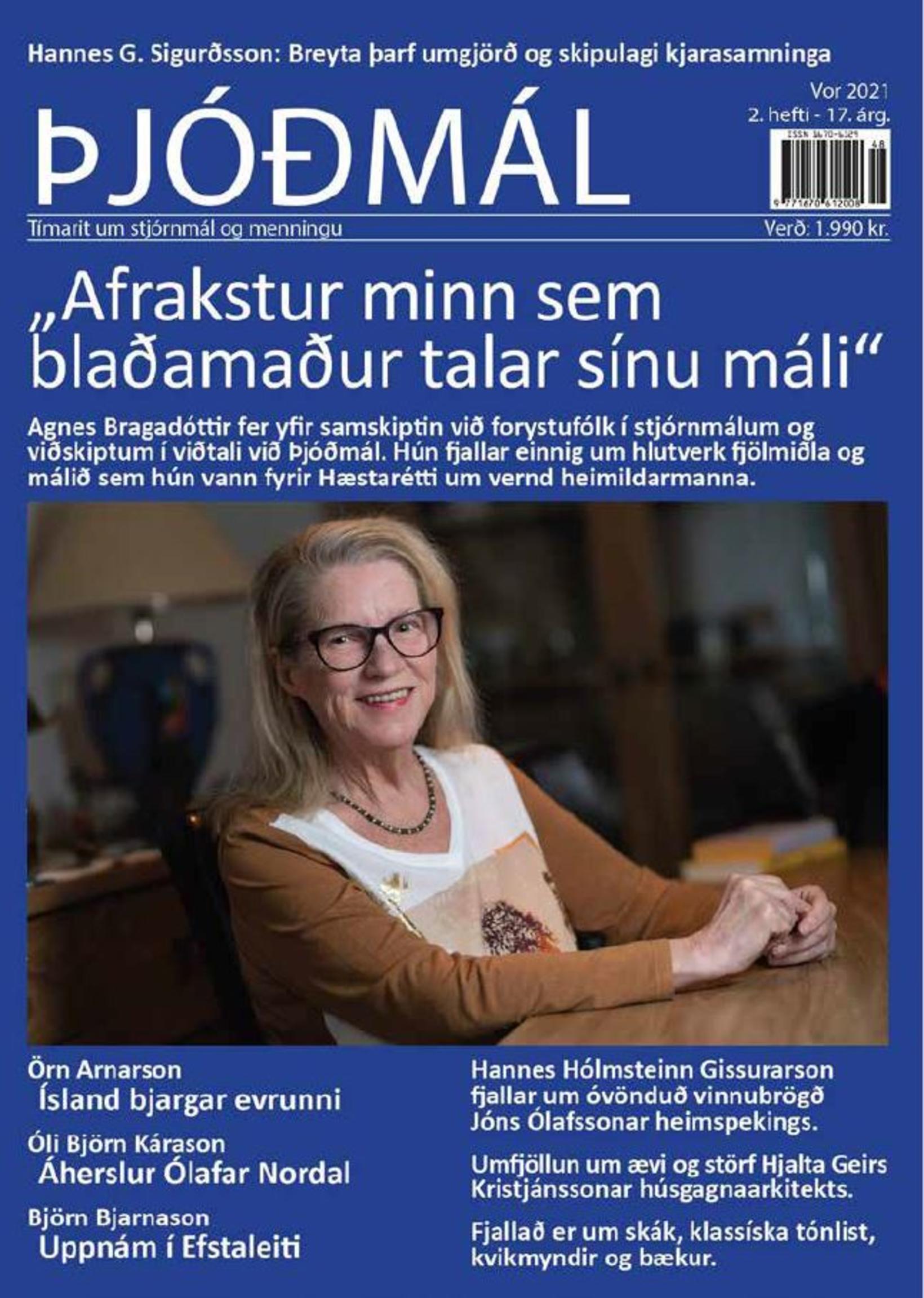 Forsíða Þjóðmála að þessu sinni.