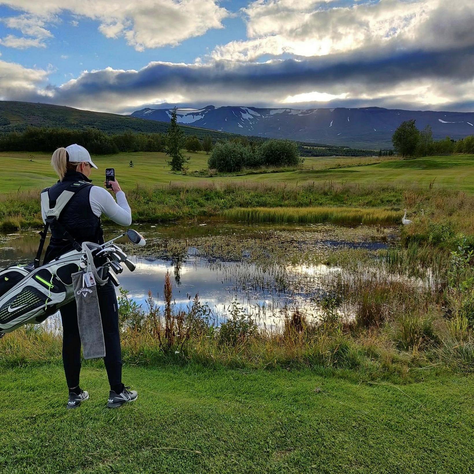 Golf býður upp á mikla útiveru.