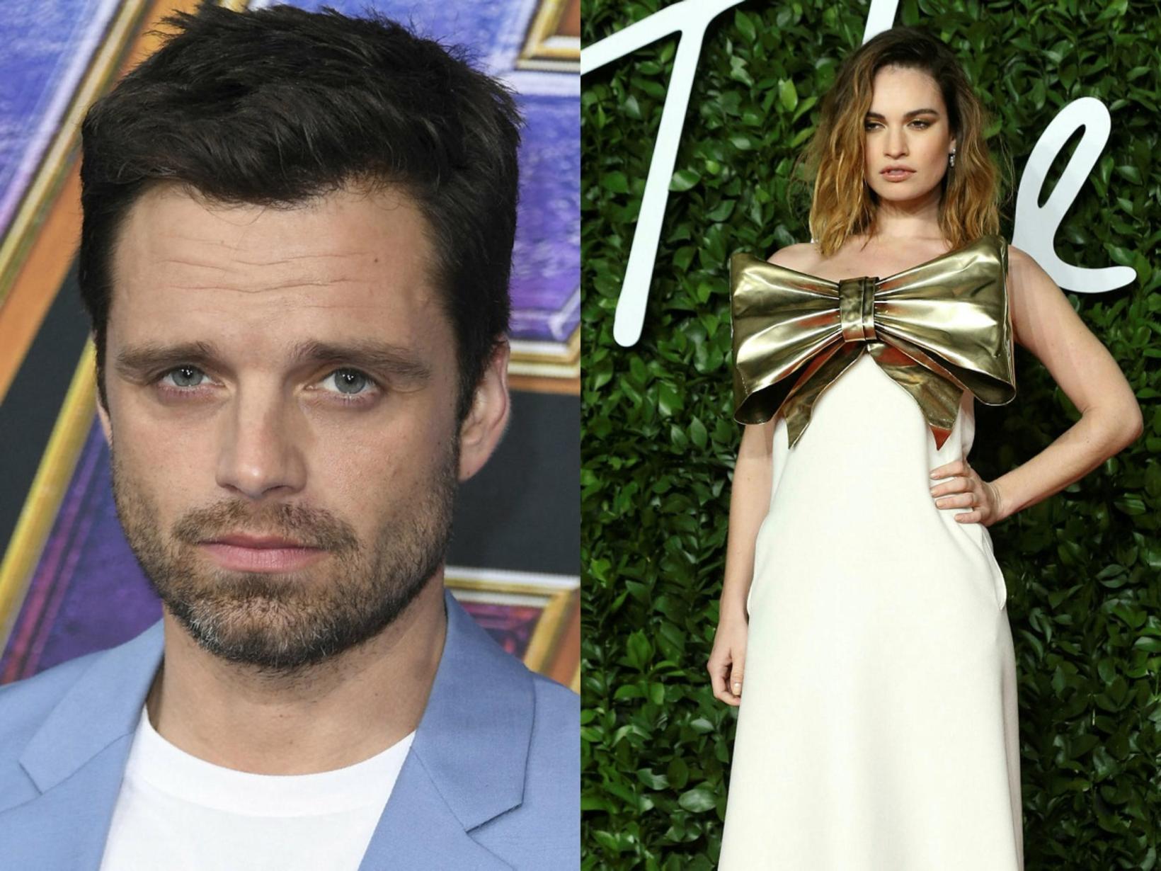 Svona líta Sebastian Stan og Lily James út þegar þau …