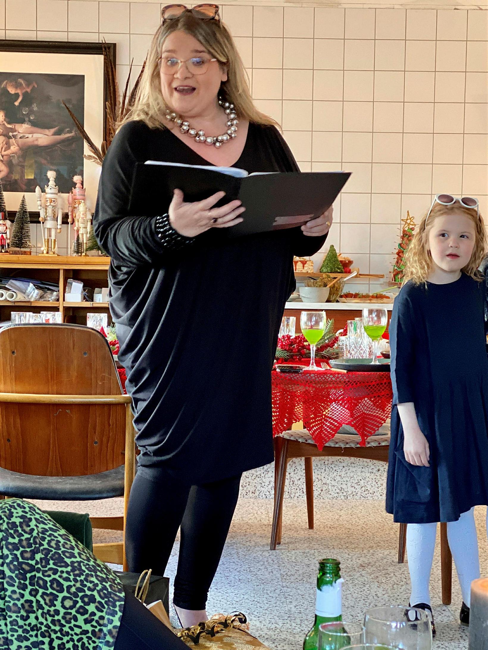 Erna Kristín Blöndal kom og söng.