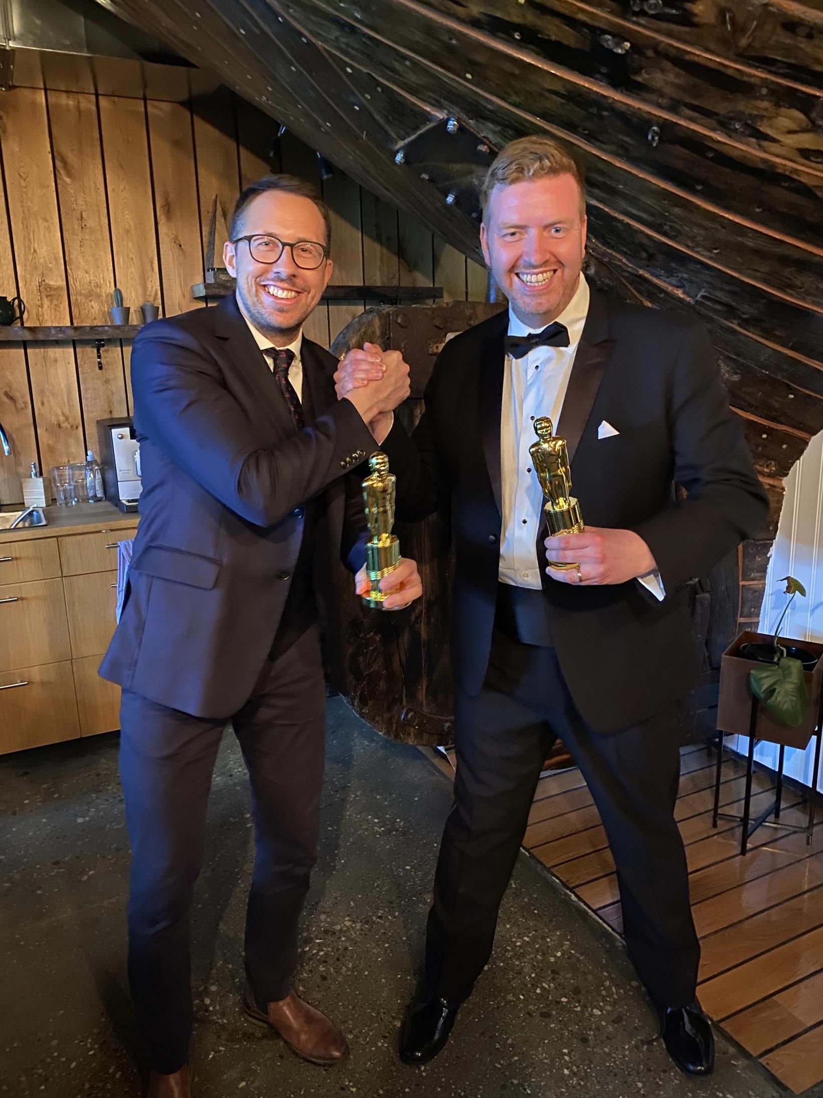 Kristján Þór Magnússon og Örlygur Hnefill Örlygsson kæddu sig upp …