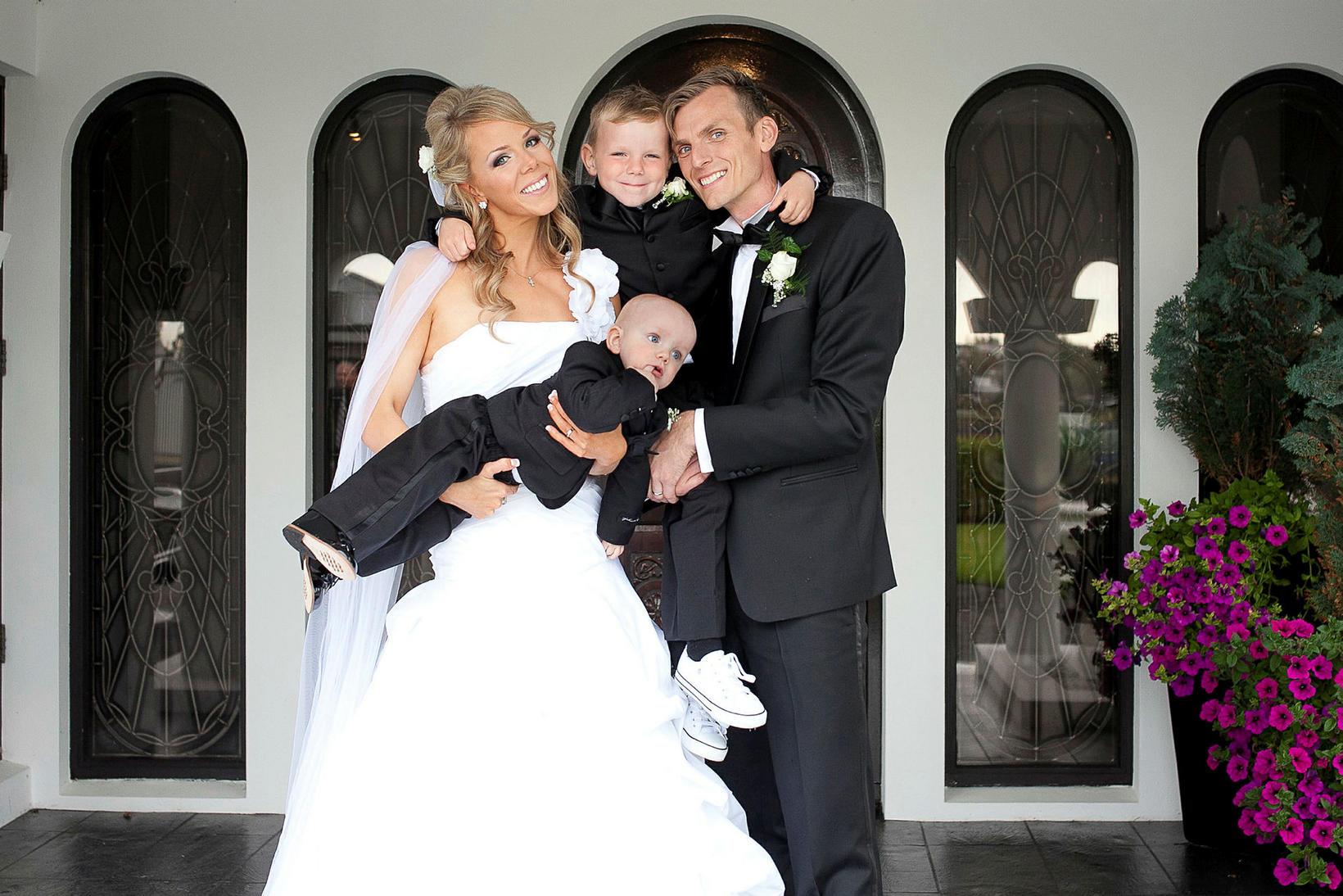 Aldís Arna og Sigurður giftu sig árið 2012.
