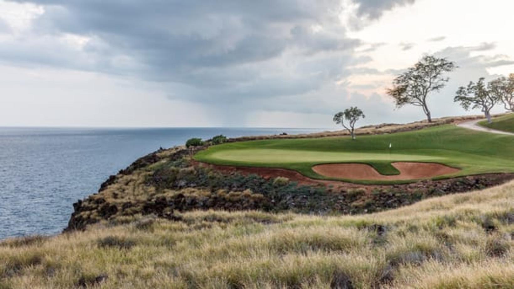 Golfvöllurinn á eyjunni Lanai þar sem Bill og Melinda Gates …