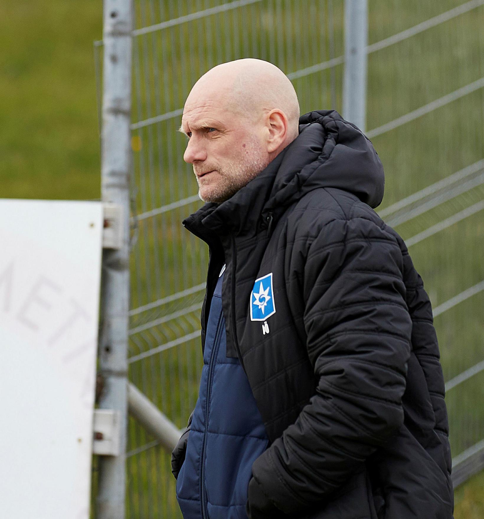 Þorvaldur Örlygsson þjálfari Stjörnunnar fylgist með leiknum í kvöld.