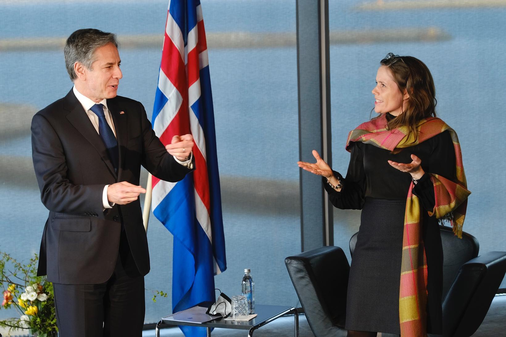 US Secretary of State Antony Blinken and Prime Minster Katrín …