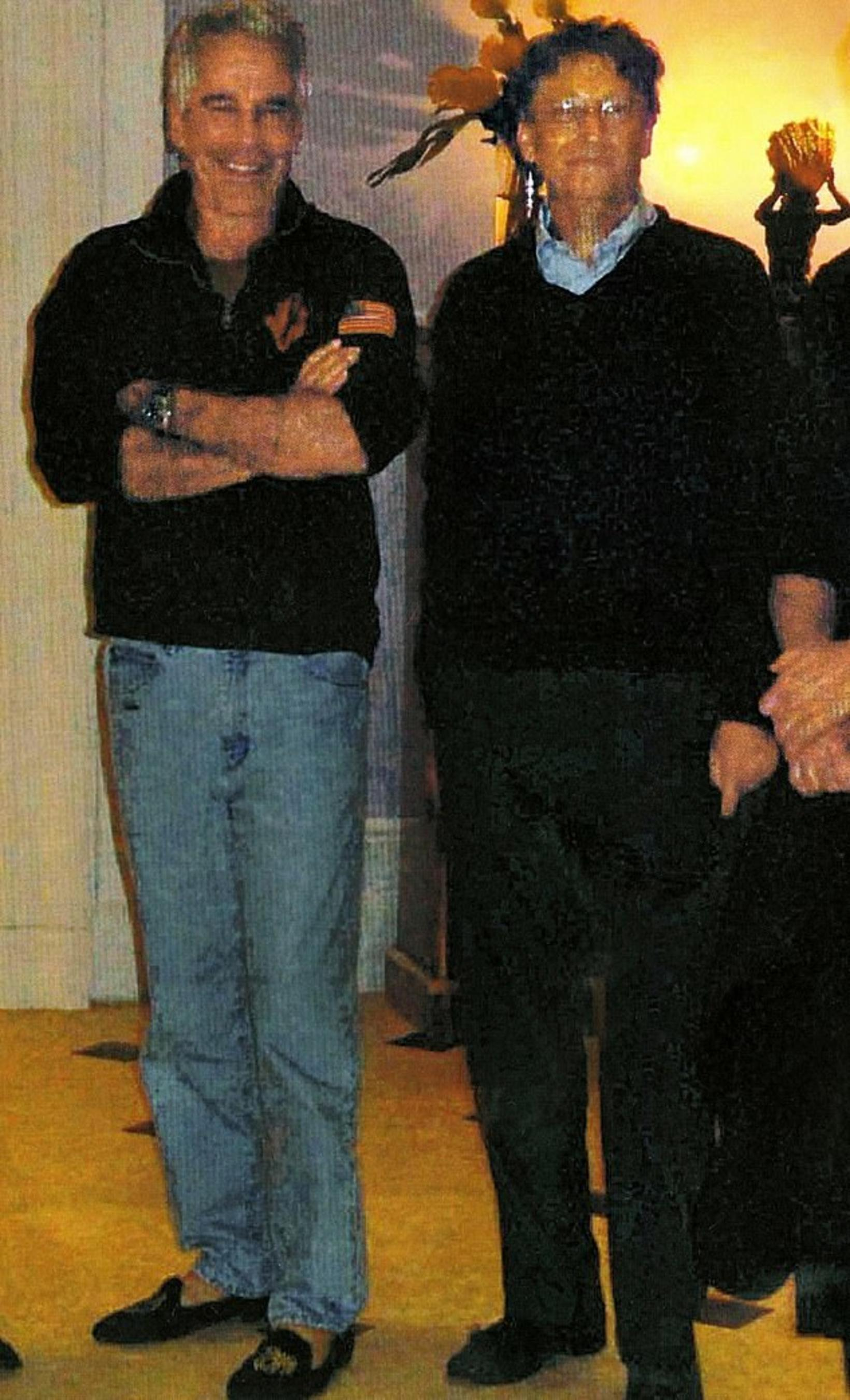 Jeffrey Epstein og Bill Gates.