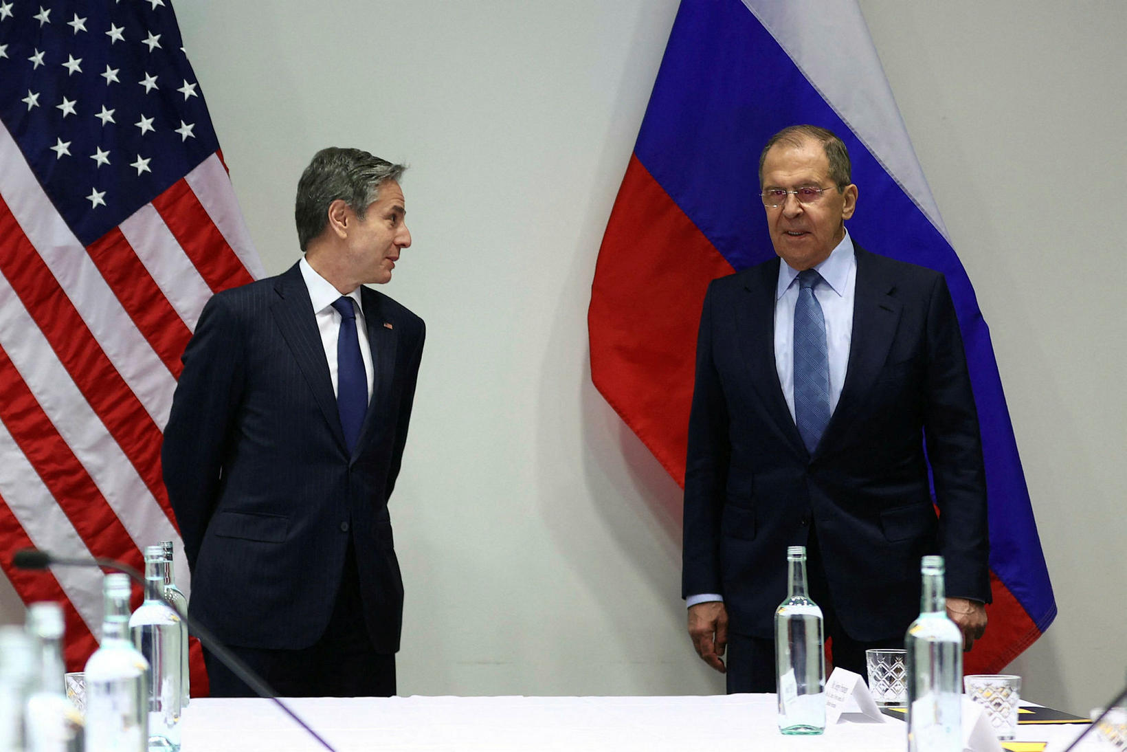 US Secretary of State Antony Blinken and Russian Foreign Minister …