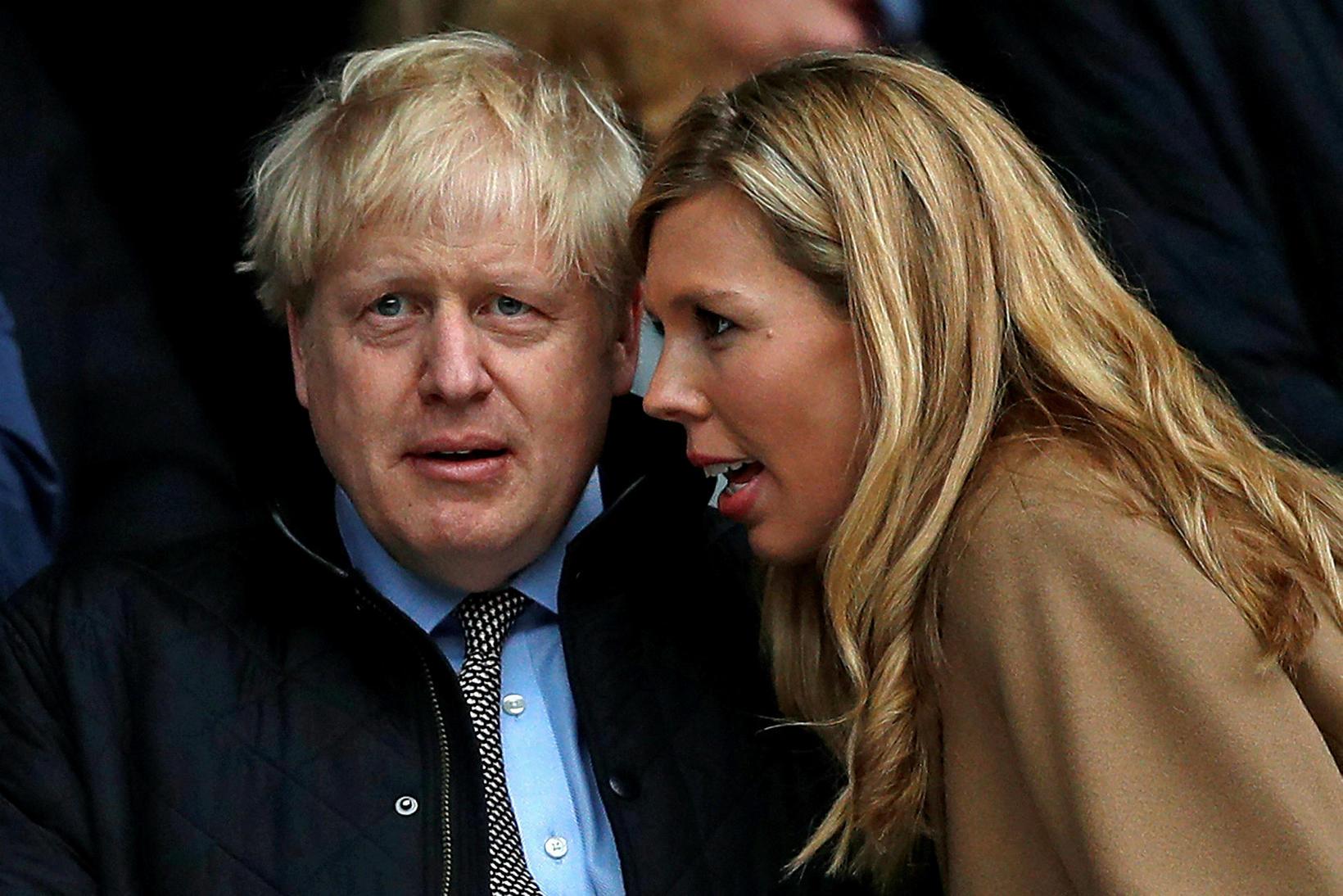 Boris Johnson og Carrie Johnson.
