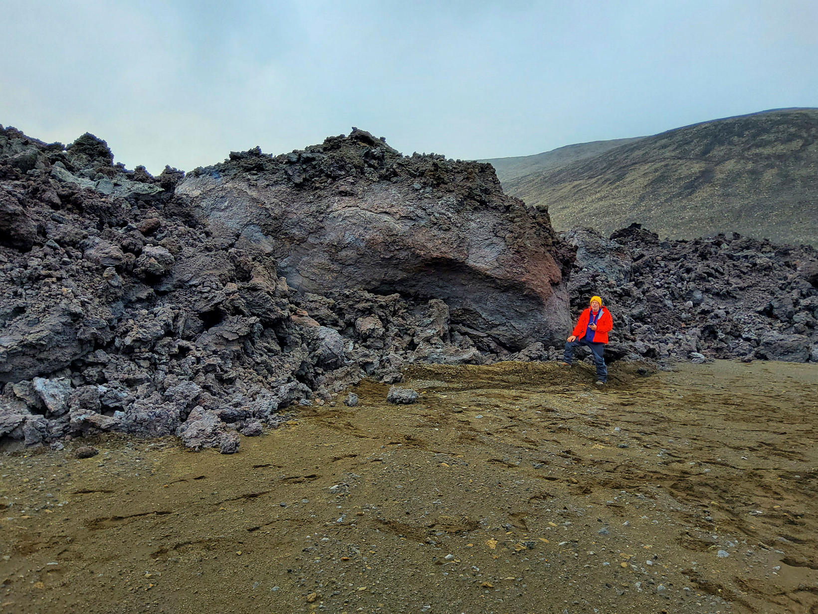 Bruce Houghton, the Hawaii State volcanologist, in front of the …