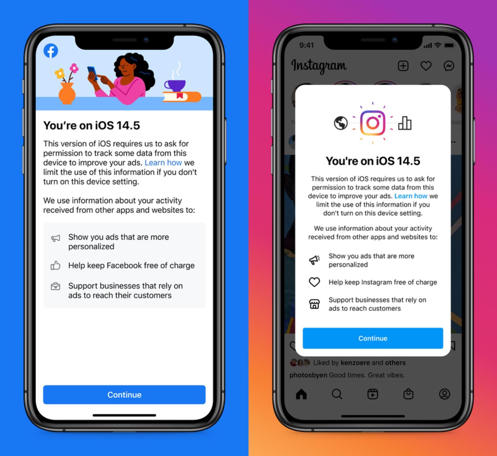 iOS 14.5. Erfiðara er nú fyrir Facebook rekja spor og …