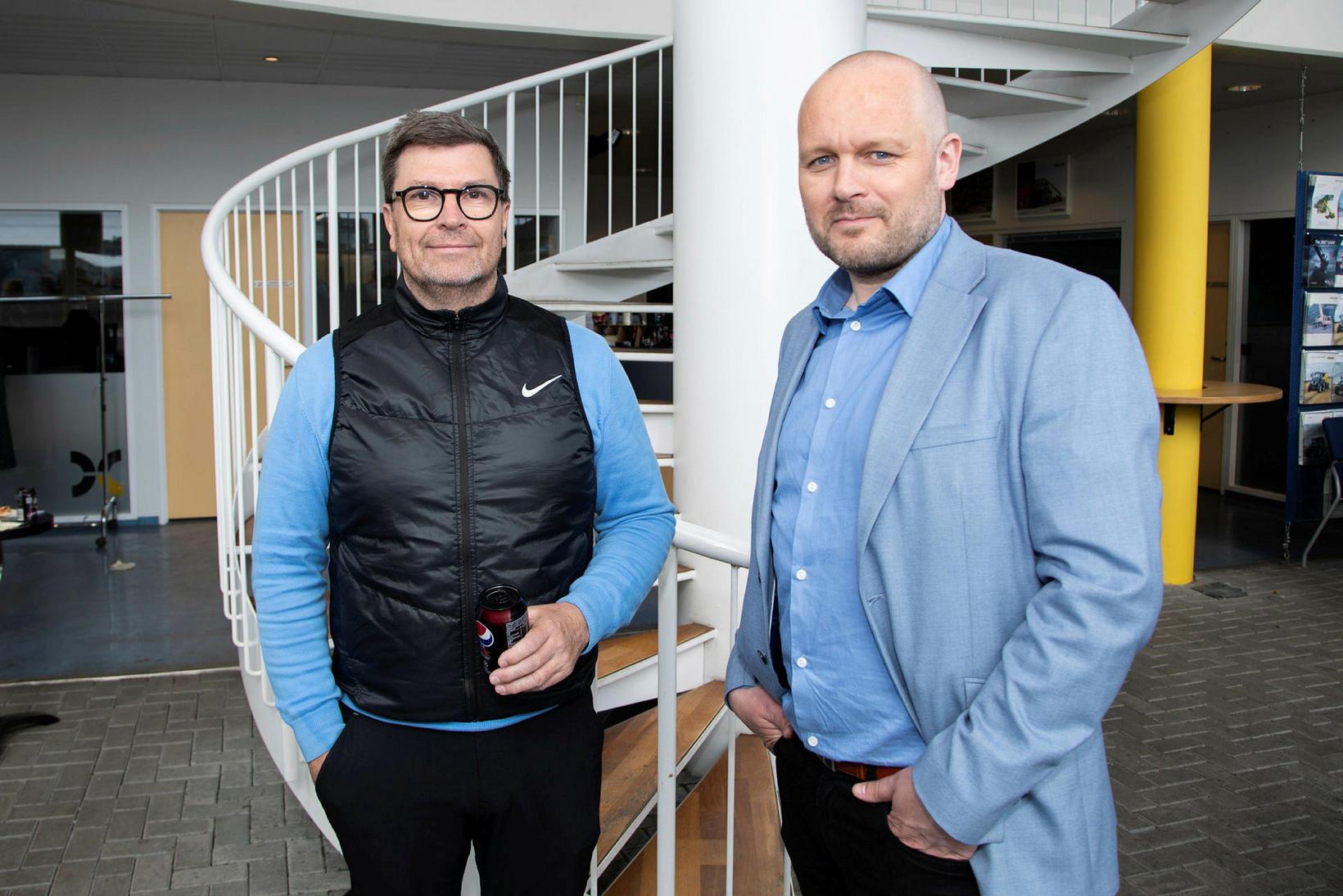 Þorvaldur Guðmundsson og Gunnar Bergmann.