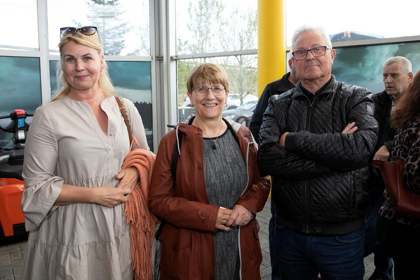 Anette, Kristín Bára Alfreðsdóttir og Kristján Friðþjófsson.
