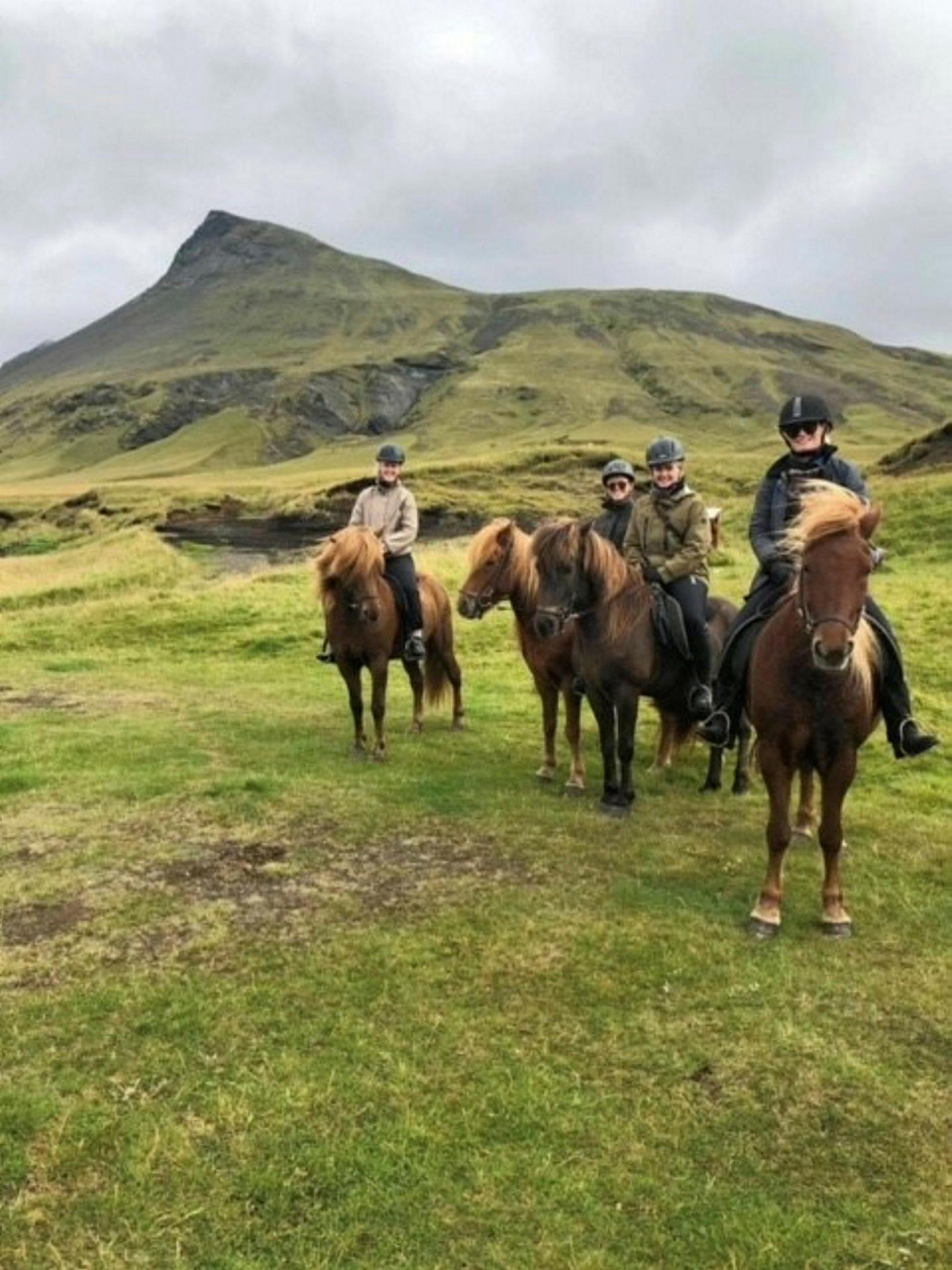 Reiðkonur syndanna hafa farið í hestaferðir um Suðurlandið. Í sumar …